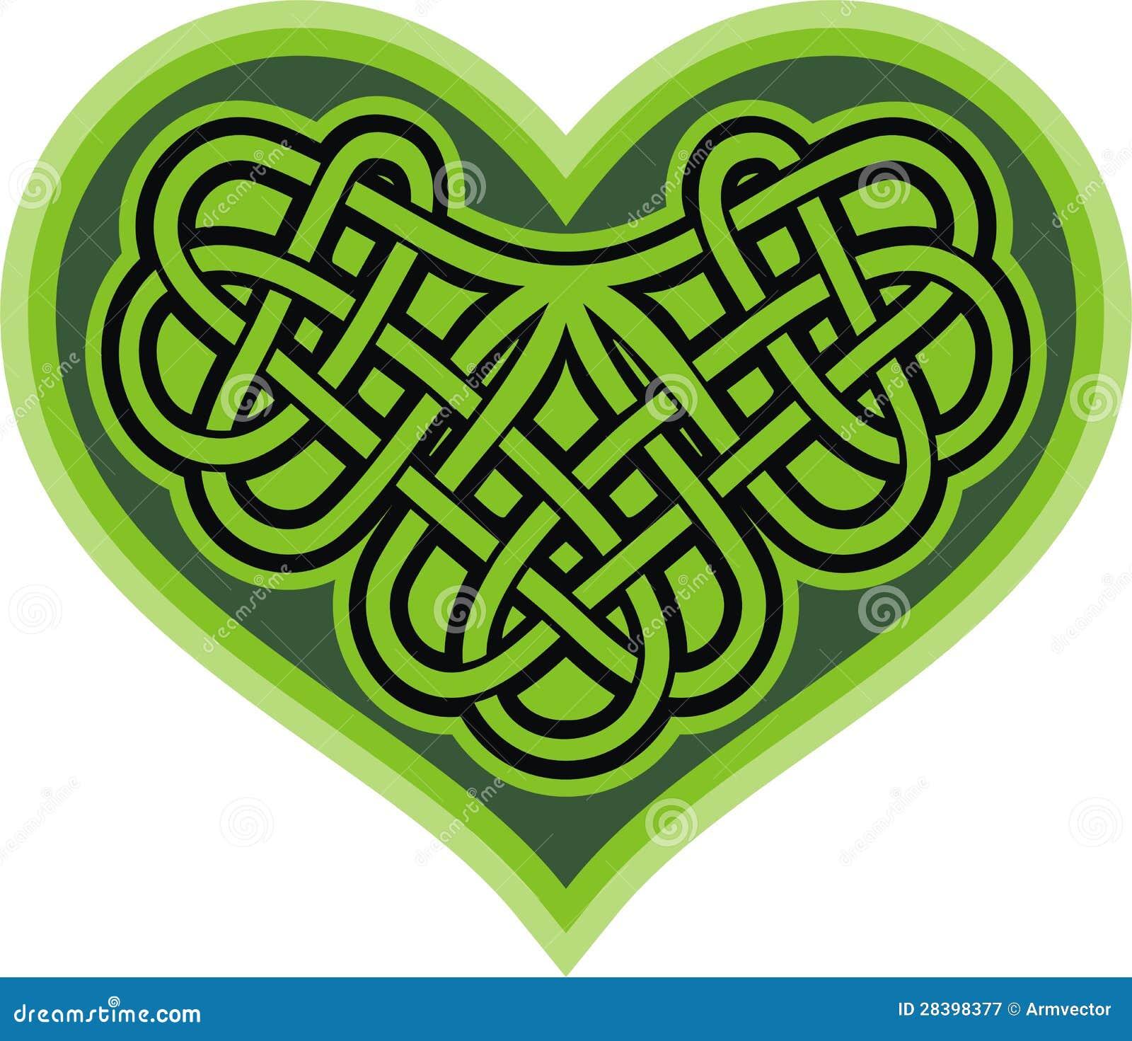 Celtic Cross With Shamrock Shamrock heart. celtic symbol