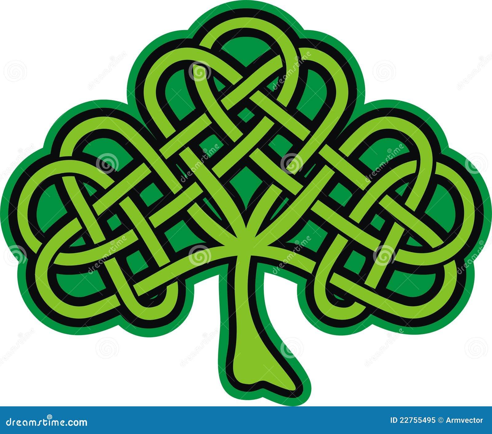 Celtic Cross With Shamrock Shamrock. ornate celtic tattoo
