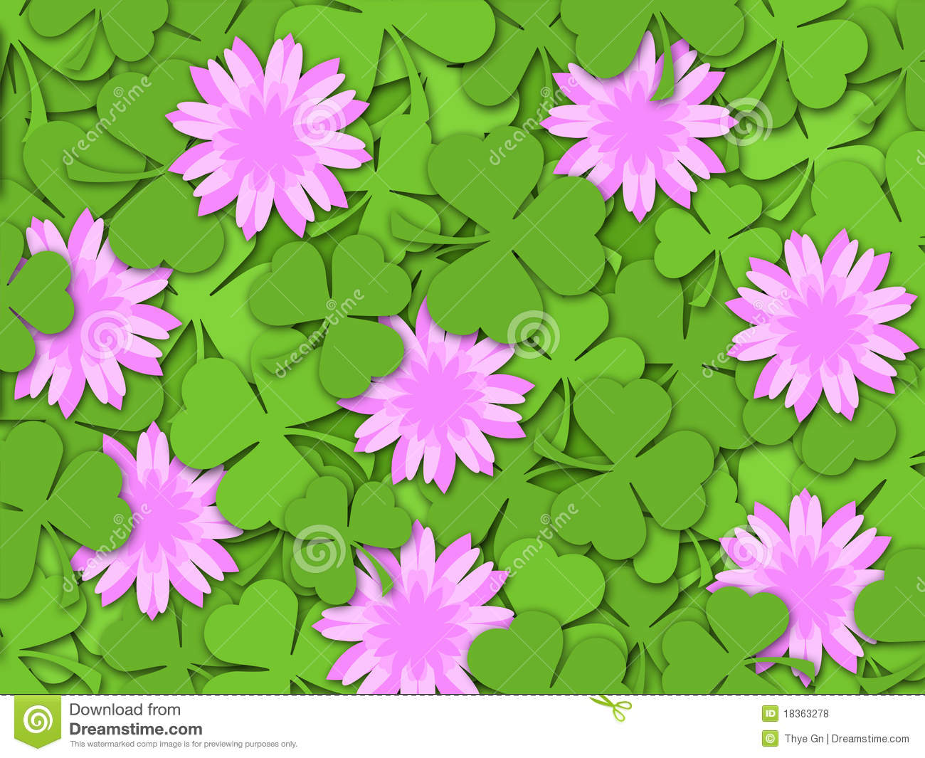 Flowers paper cutting stock image image of effects 37573137 shamrock paper cutting clover flowers background royalty free stock photos mightylinksfo