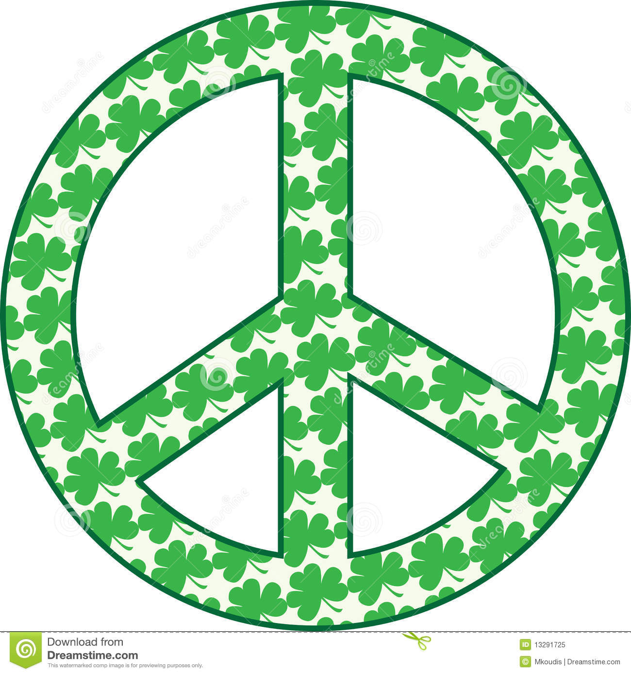 Shamrock peace sign stock illustration image of nature 13291725 shamrock peace sign biocorpaavc