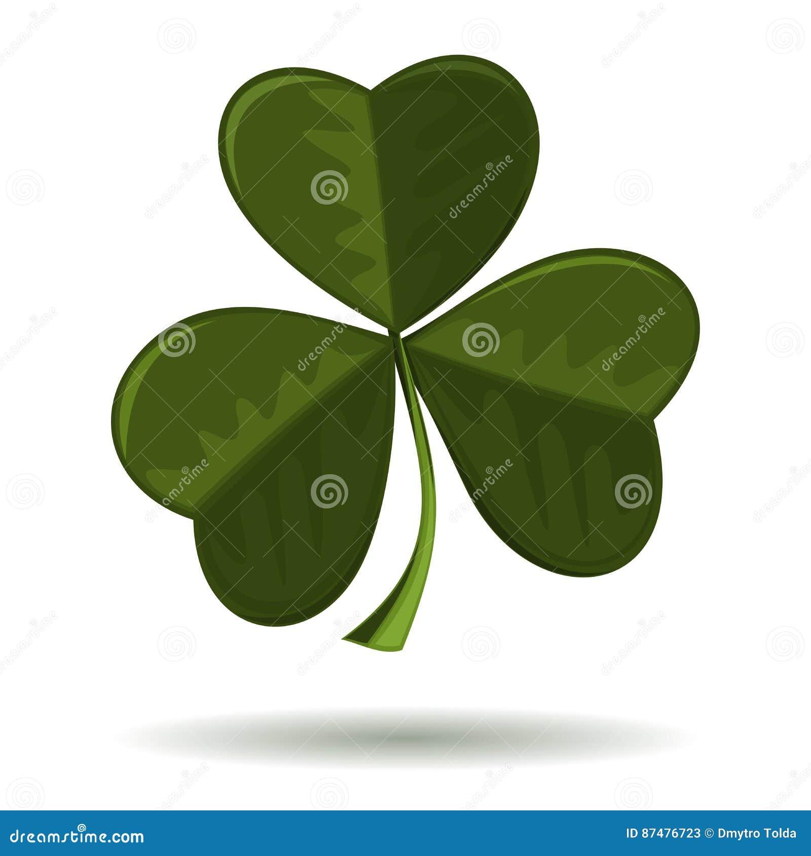 Shamrock, seamrog, trifoliate клевер - символ Ирландии и торжество дня St Patricks