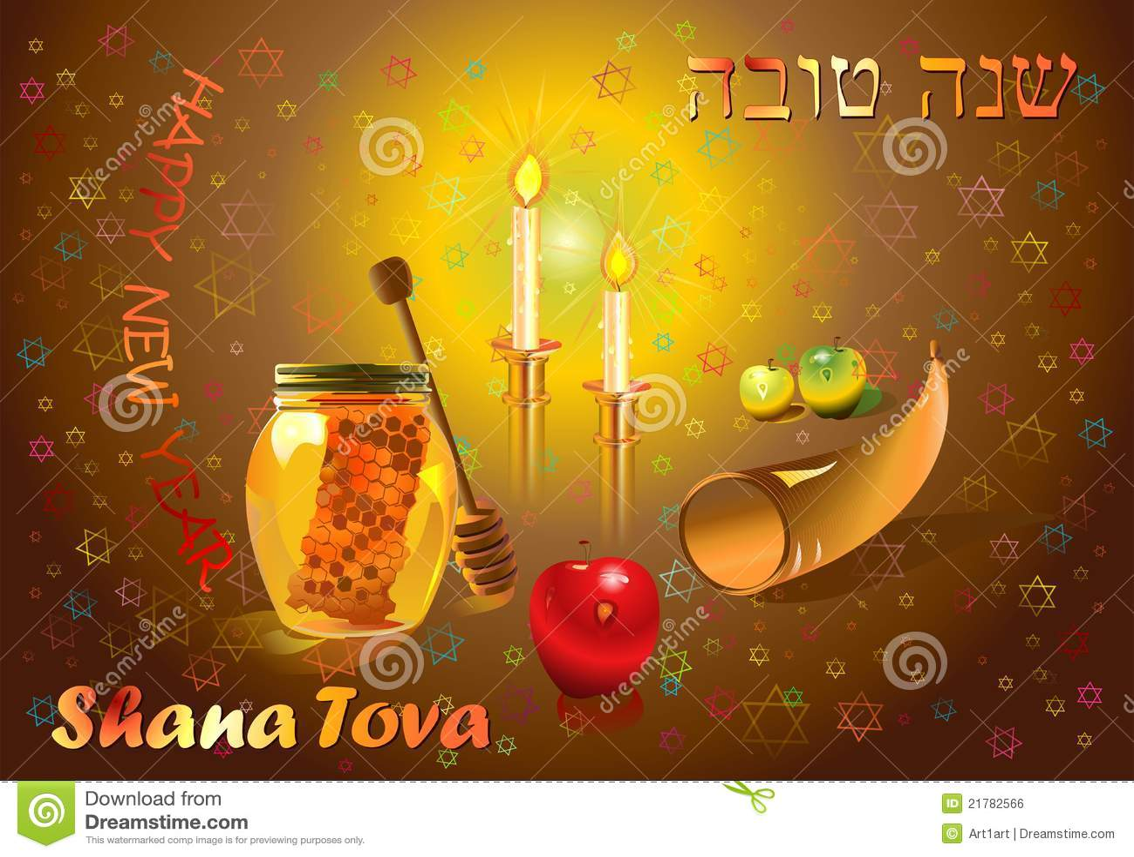 Shana tova stock illustration illustration of apple 21782566 greeting card happy new year m4hsunfo