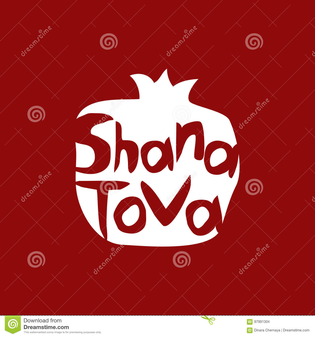 Shana Tova Happy New Year On Hebrew Greeting Card For Jewish New