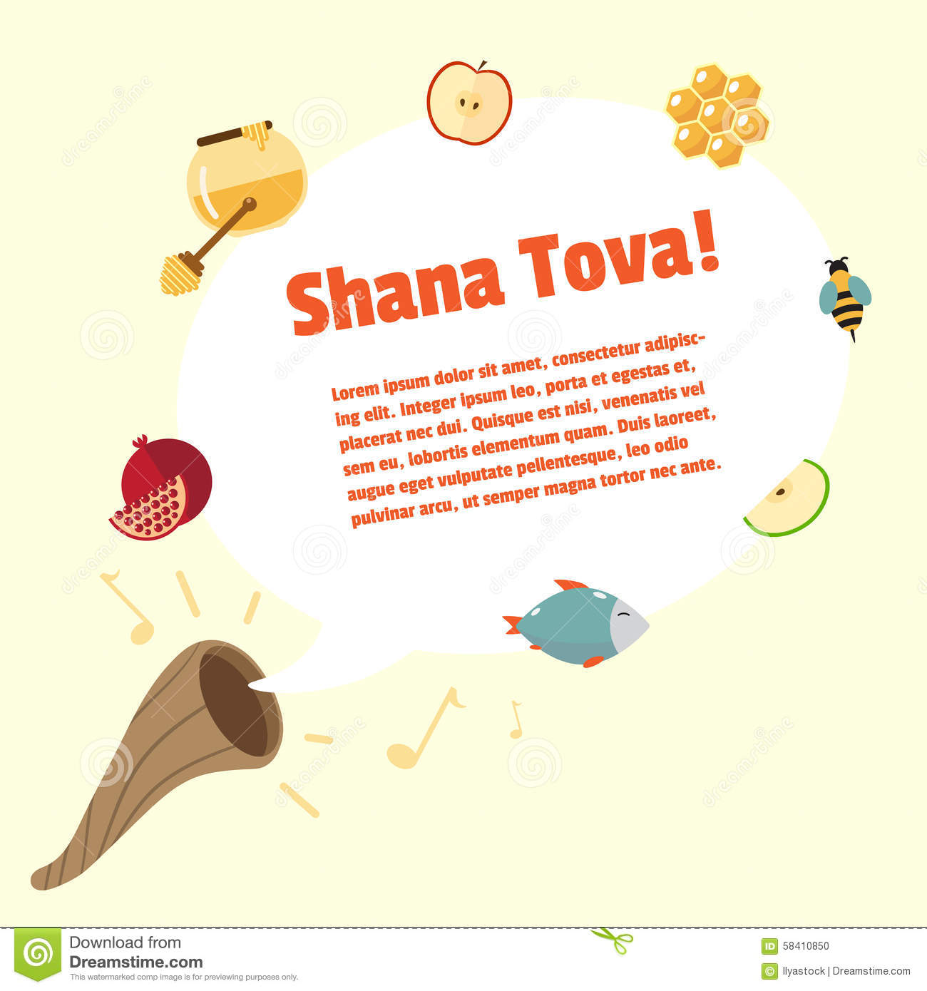 Shana tova rosh hashanah jewish new year vector greeting card stock shana tova rosh hashanah jewish new year vector greeting card kristyandbryce Choice Image