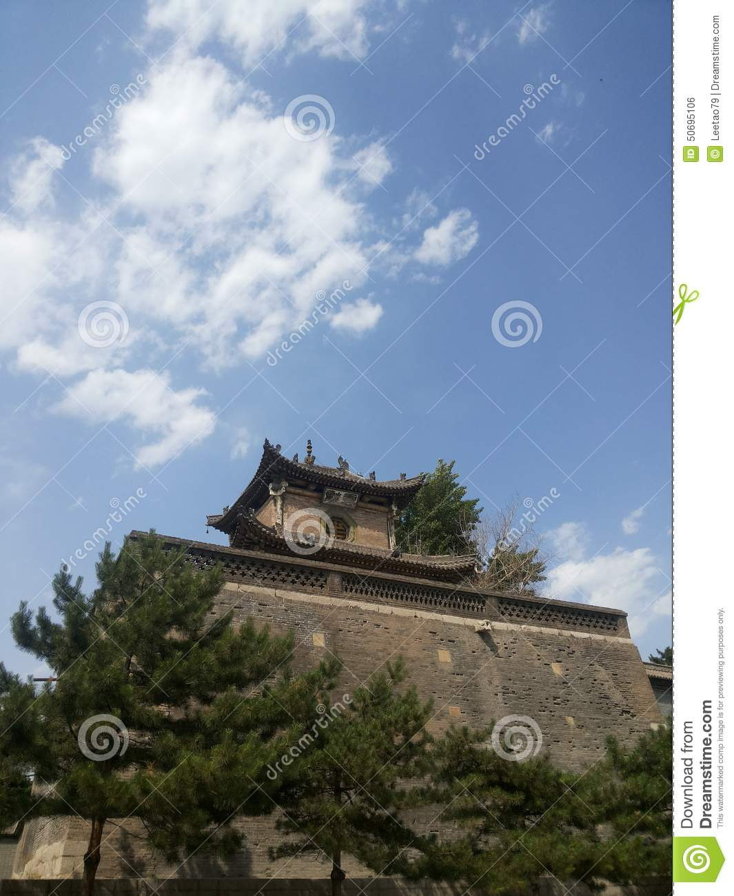 The Shangdang Door Of China Stock Photo Image Of Department Huang