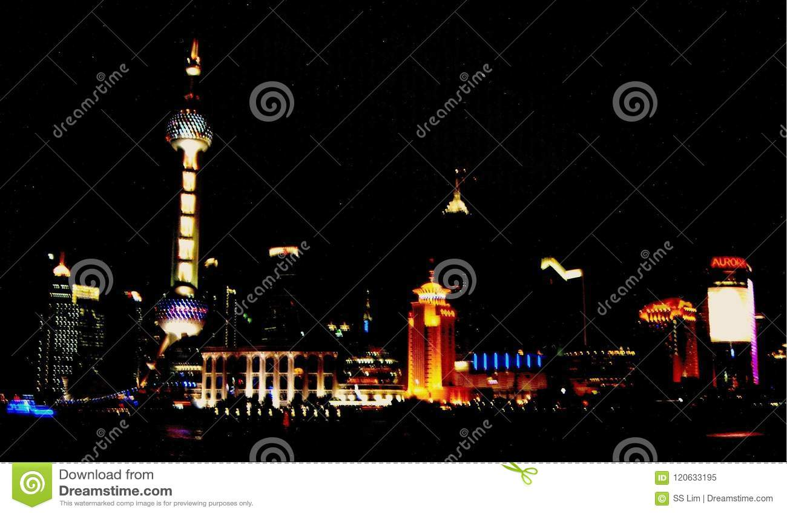 Shanghai Cosmopolitan Area at Night