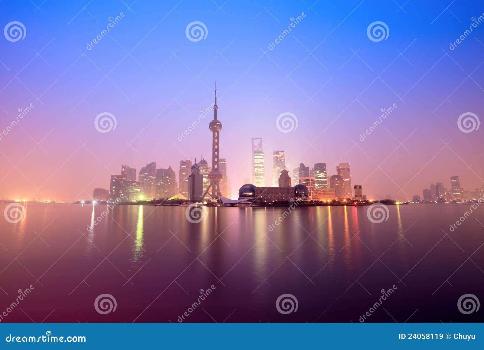 Shanghai in daybreak