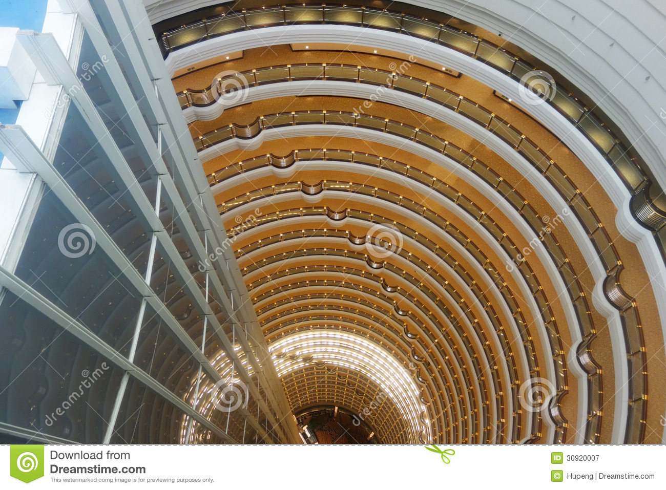 Shanghai Jinmao Tower Interior Editorial Photography