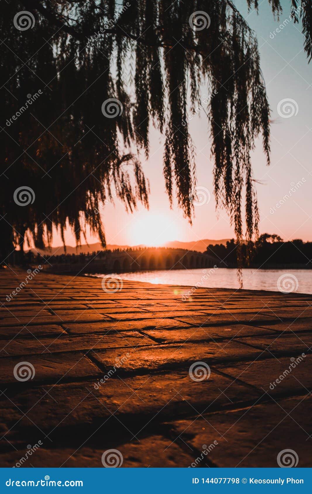 Shanghai solnedgång