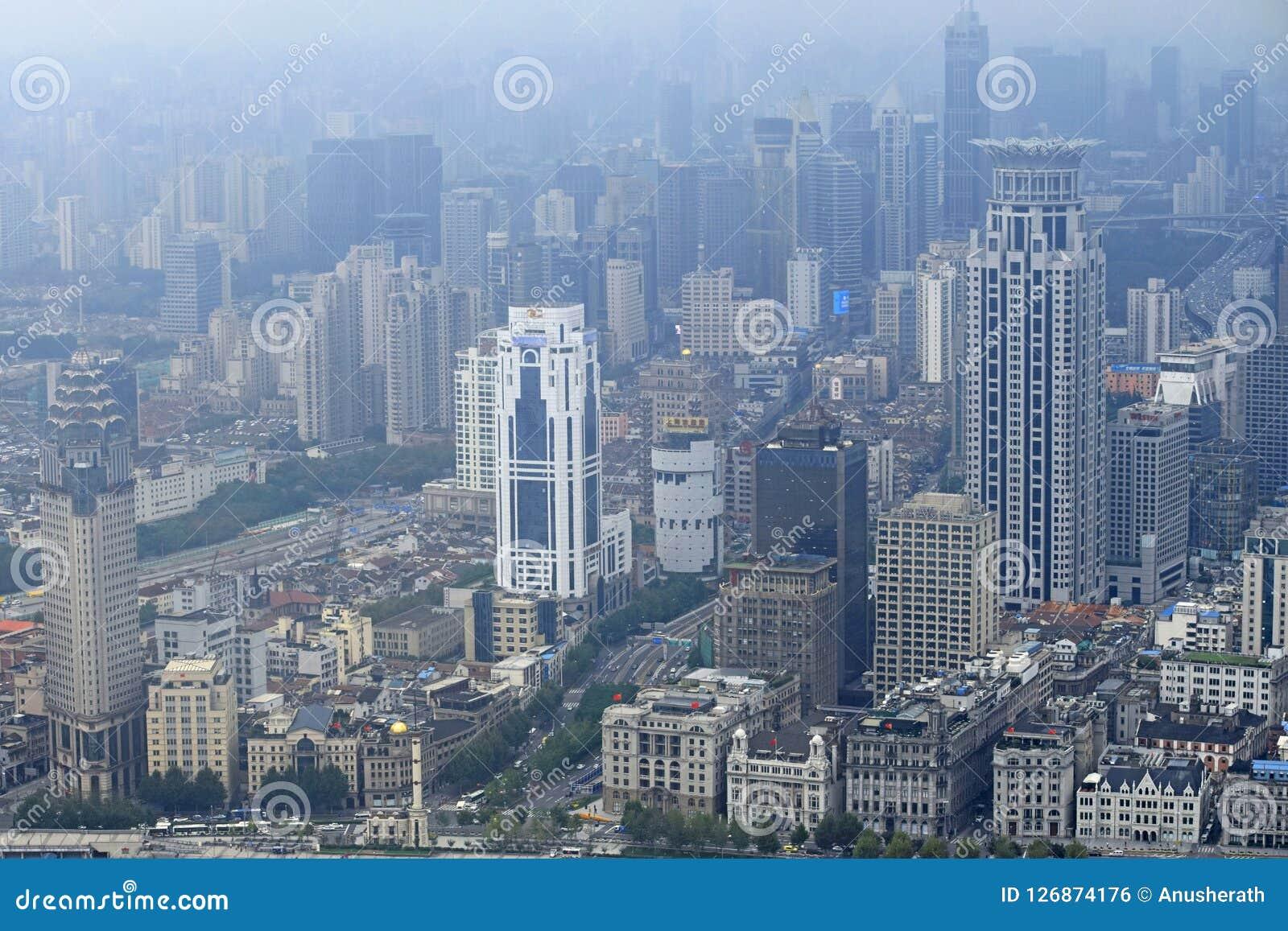 Shanghai stadsskönhet, porslin