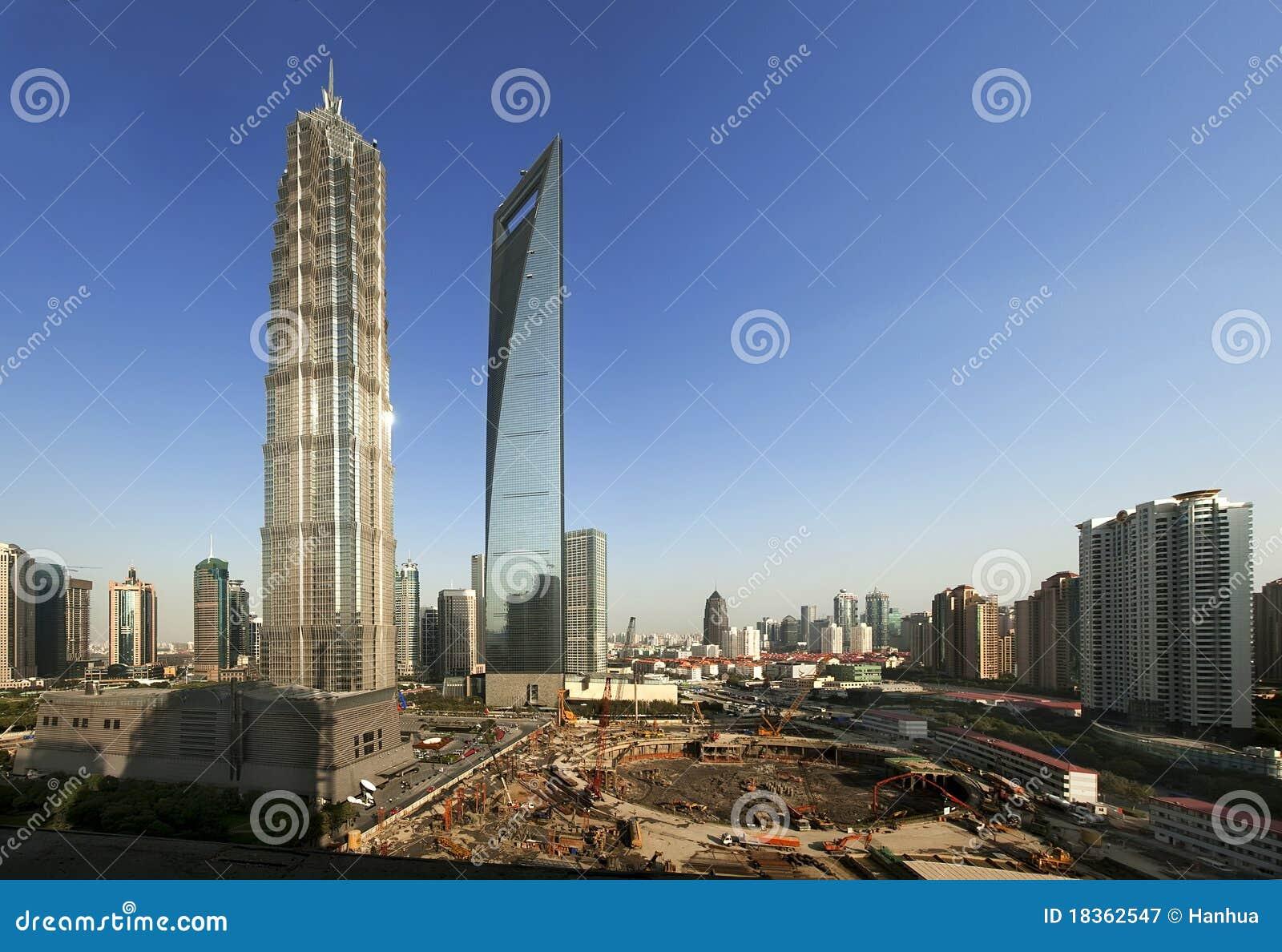 Shanghai tre för stigning för byggnadsporslin hög överkant