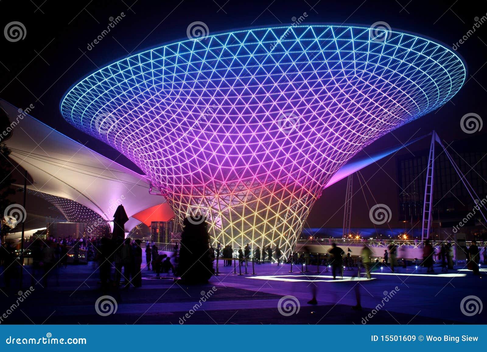Shanghai-Weltausstellungs-Prachtstraßen-sonniges Tal