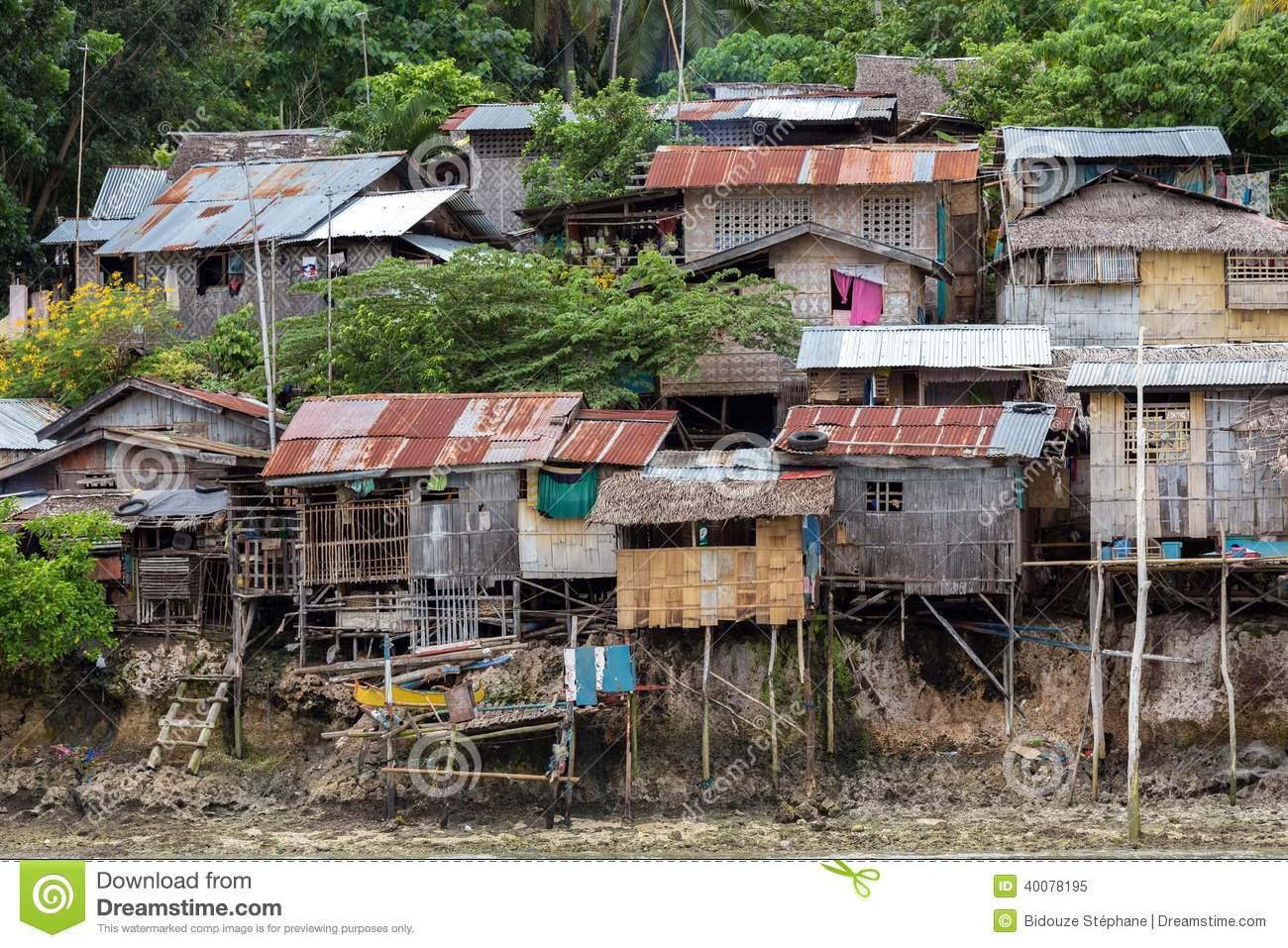 Shanty Homes In Philippines Stock Photo - Image: 40078195