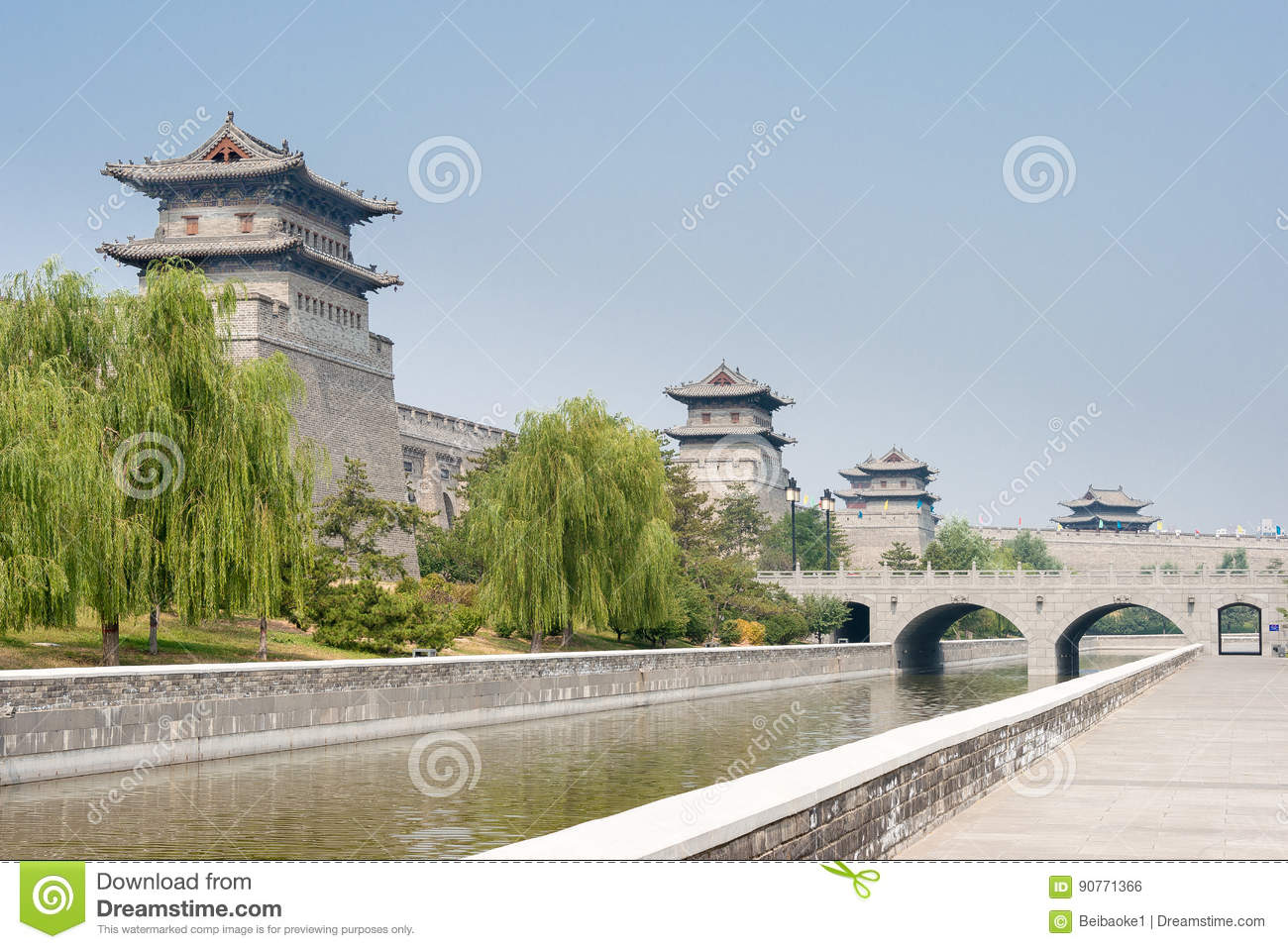 SHANXI, CHINA - Sept 21 2015: Datong City Wall. a famous histor