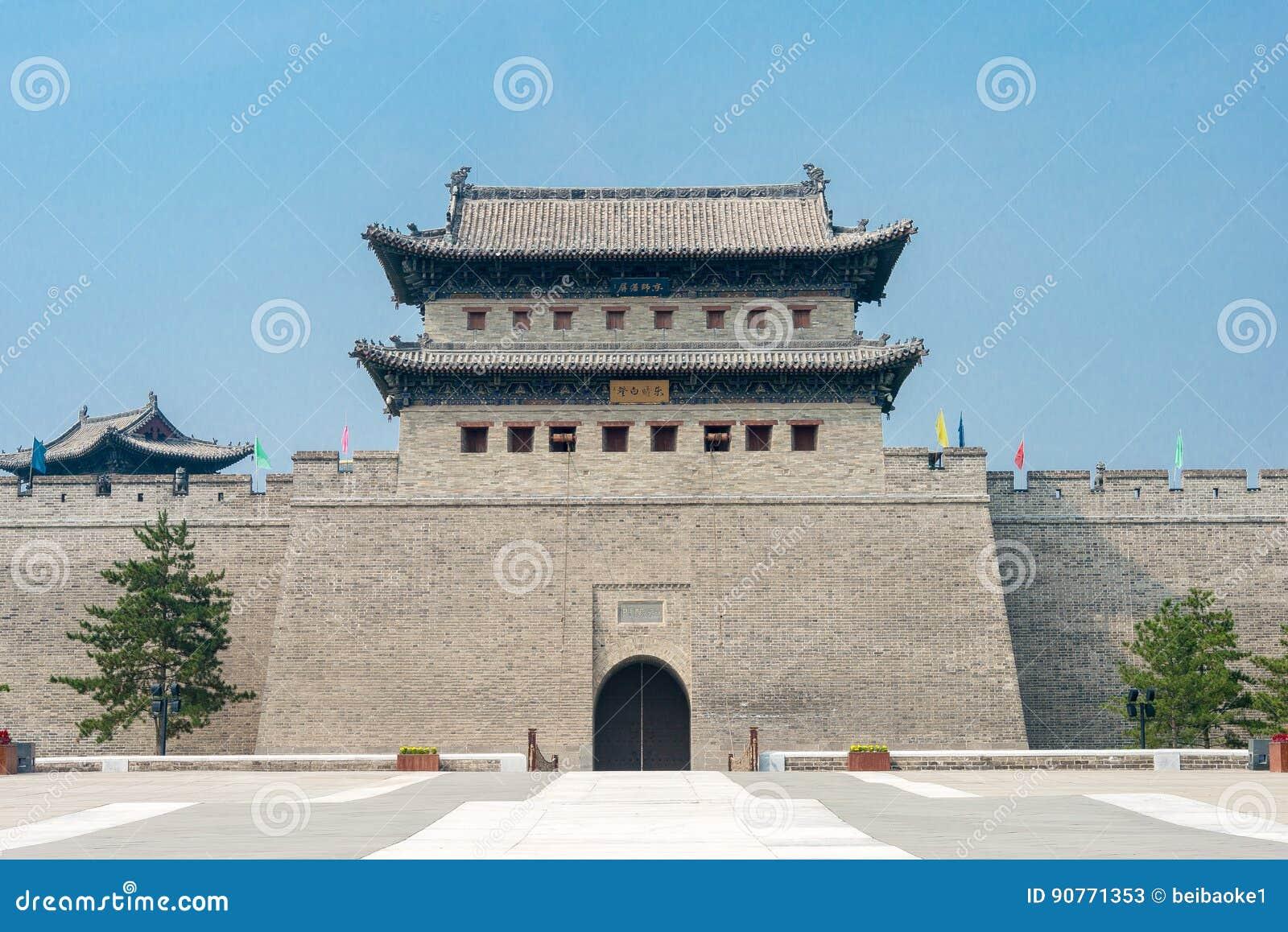 SHANXI, CHINA - Sept 21 2015: Parede da cidade de Datong um Histor famoso