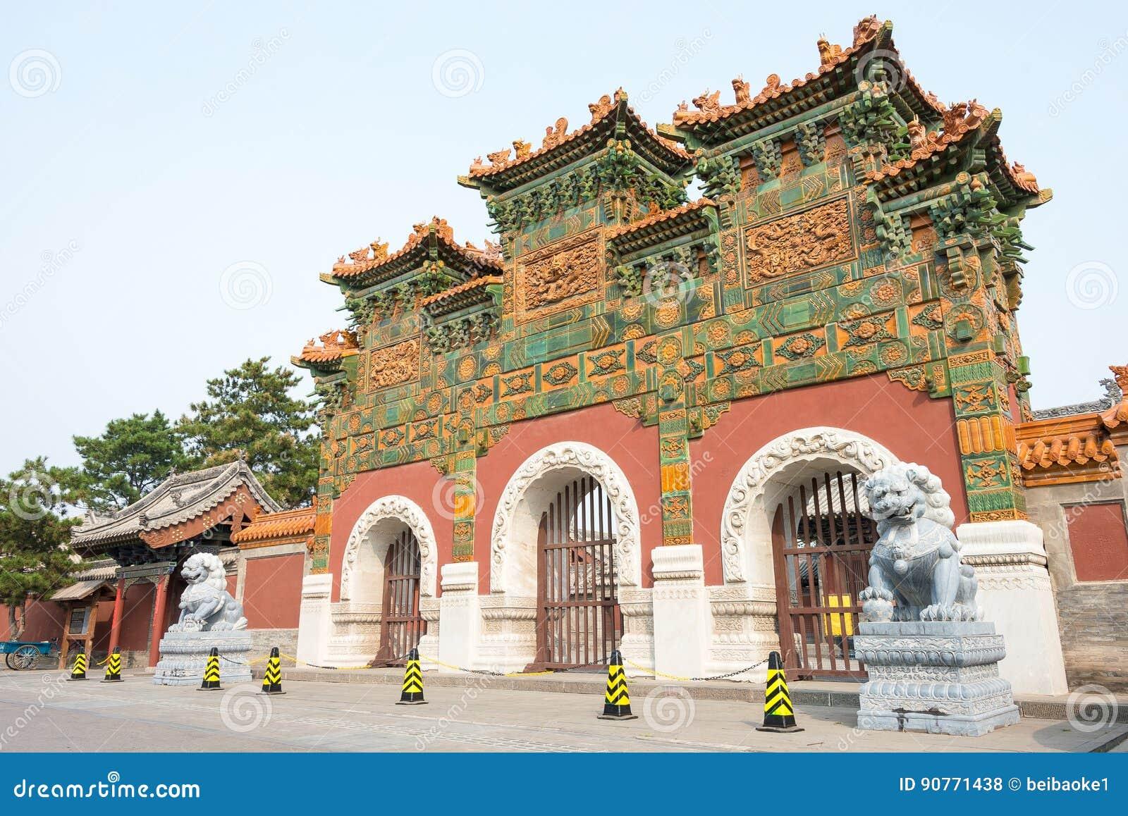 SHANXI, CHINA - Sept 21 2015: Templo de Fahua um S histórico famoso