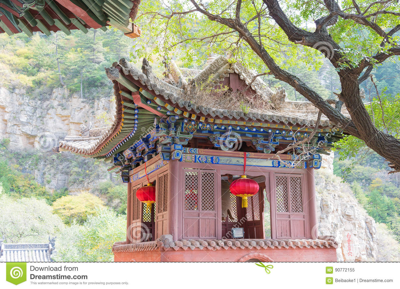 SHANXI, CINA - il 19 settembre 2015: Heng Shan un sito storico famoso