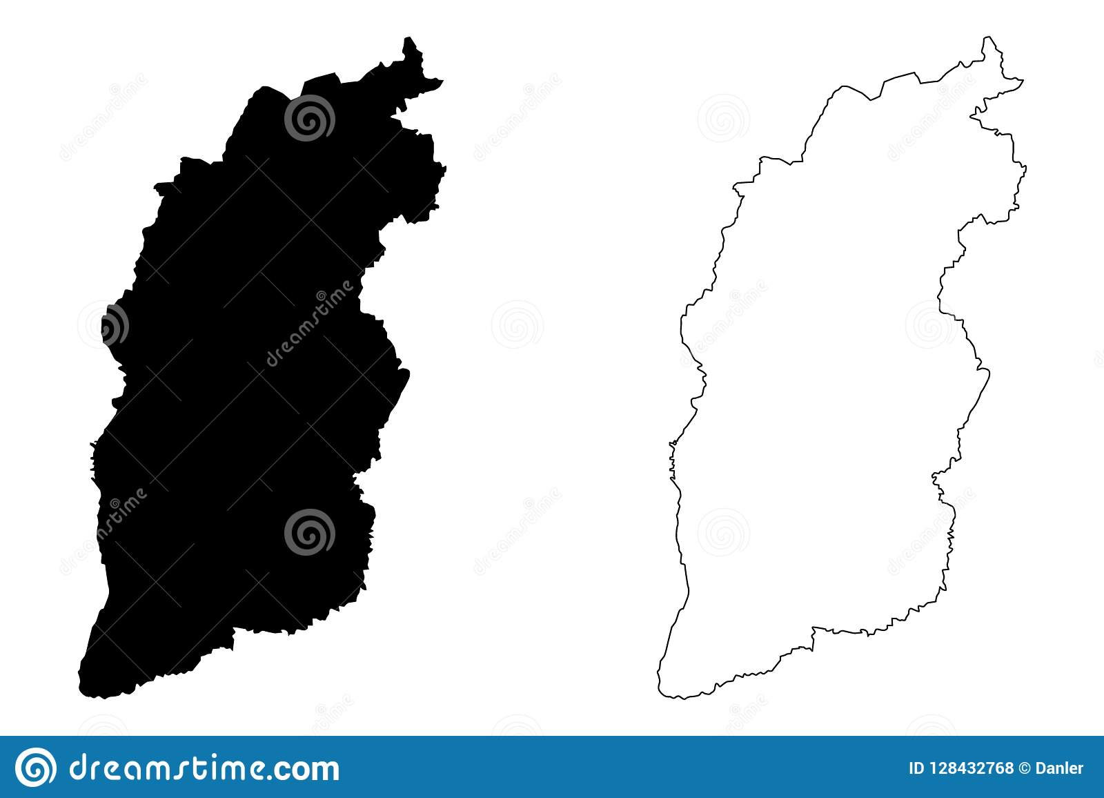 Shanxi China Map.Shanxi Province Map Vector Stock Vector Illustration Of Oblast