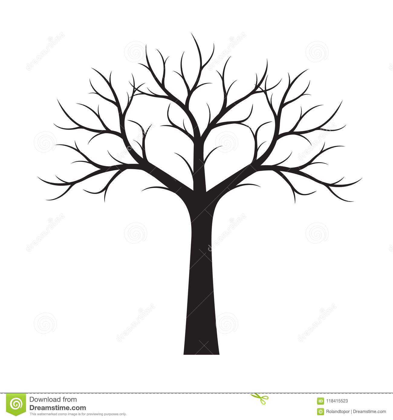 Shape of black tree without leaves vector illustration stock download shape of black tree without leaves vector illustration stock vector illustration of thecheapjerseys Gallery