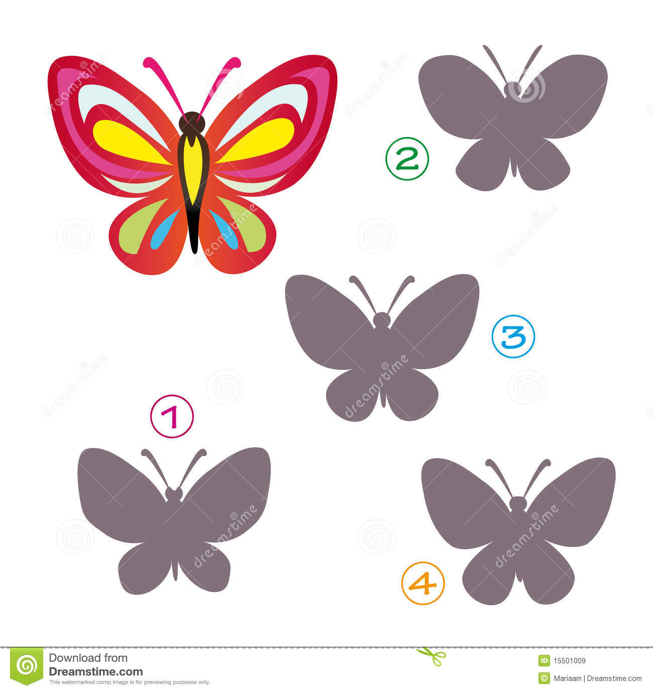 shape game the butterfly royalty free stock images image 15501009