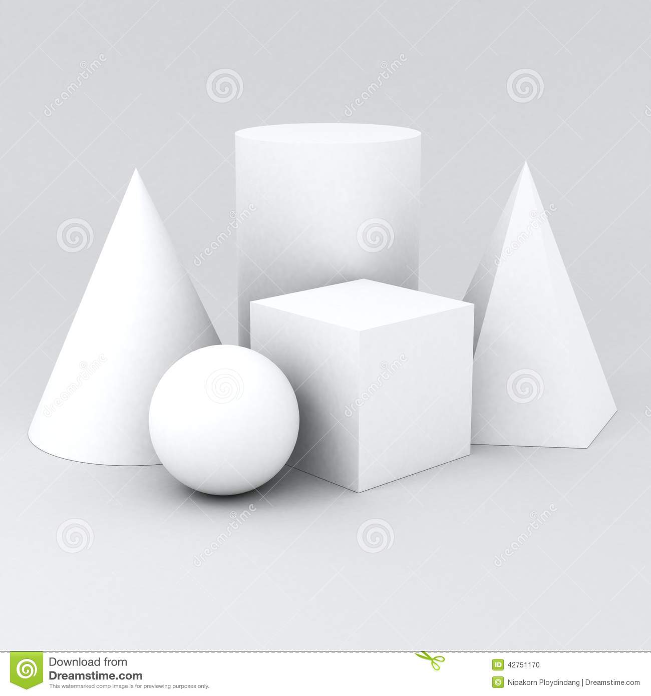 Shapes = sphere cube cylinder cone pyramidfor Practice drawing.