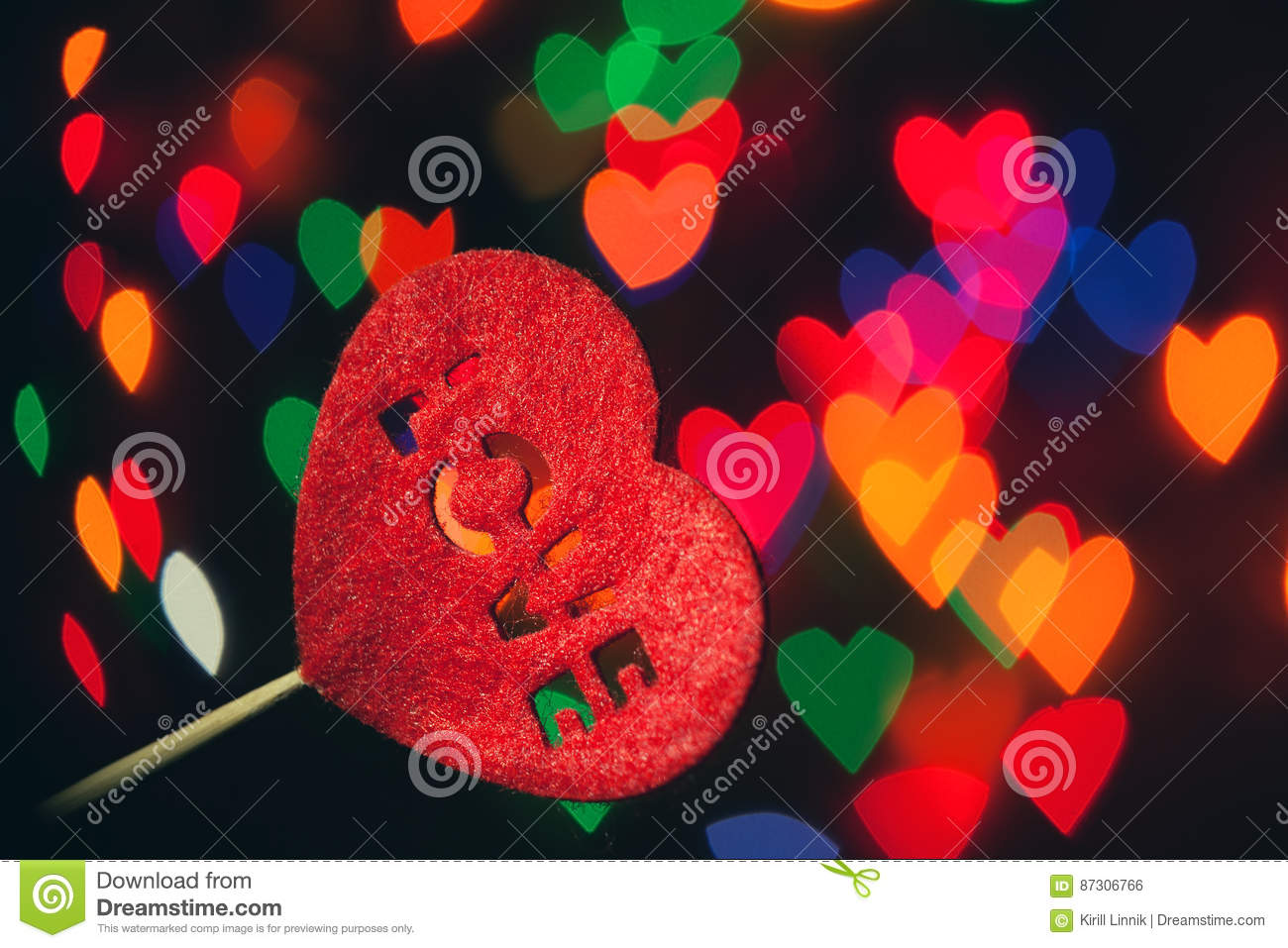 Download The shape of love stock photo. Image of love, illuminated - 87306766
