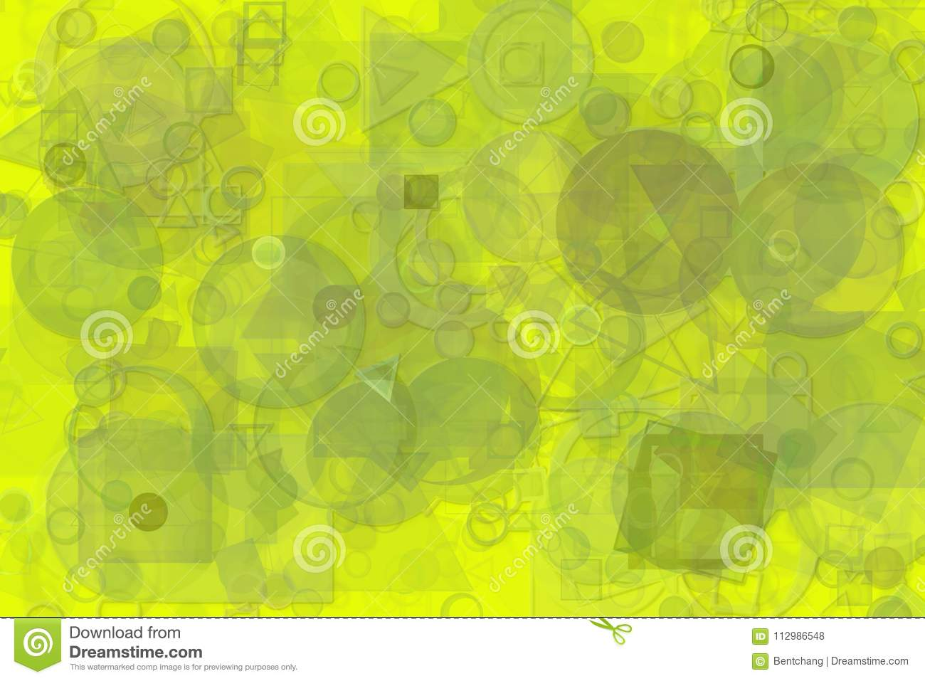 Shape pattern artistic abstract background. Bubble, square, artwork & stroke.