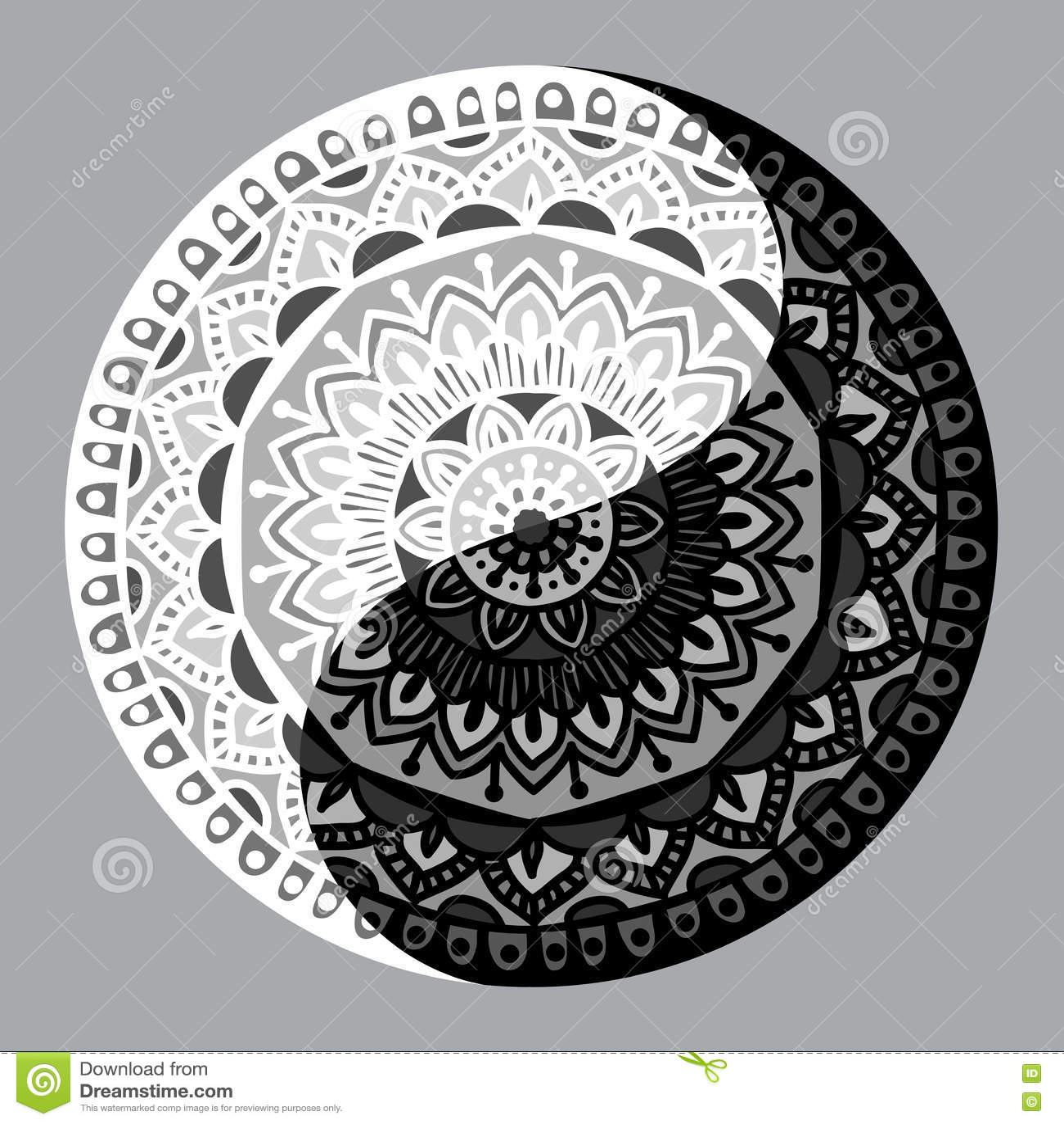 Shape Of Symbol Yin Yang Stock Vector Illustration Of Decoration