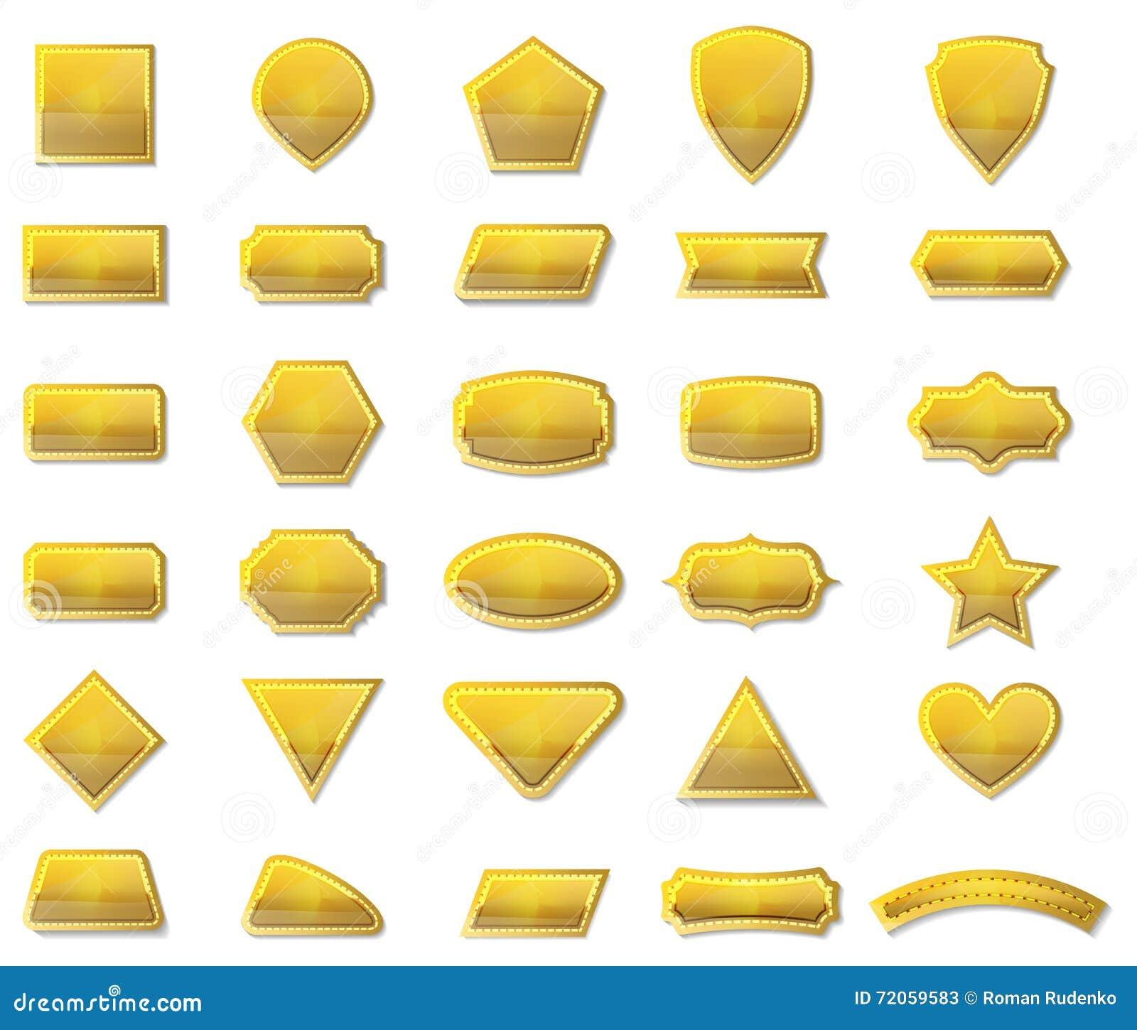 shape vector shapes label frame set illustration sticker