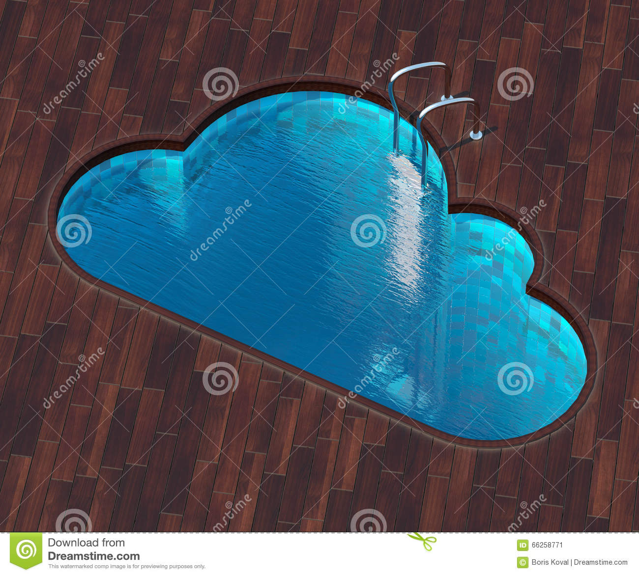 Cool Shaped Pools: Shaped Pool Cloud Stock Illustration. Image Of Network