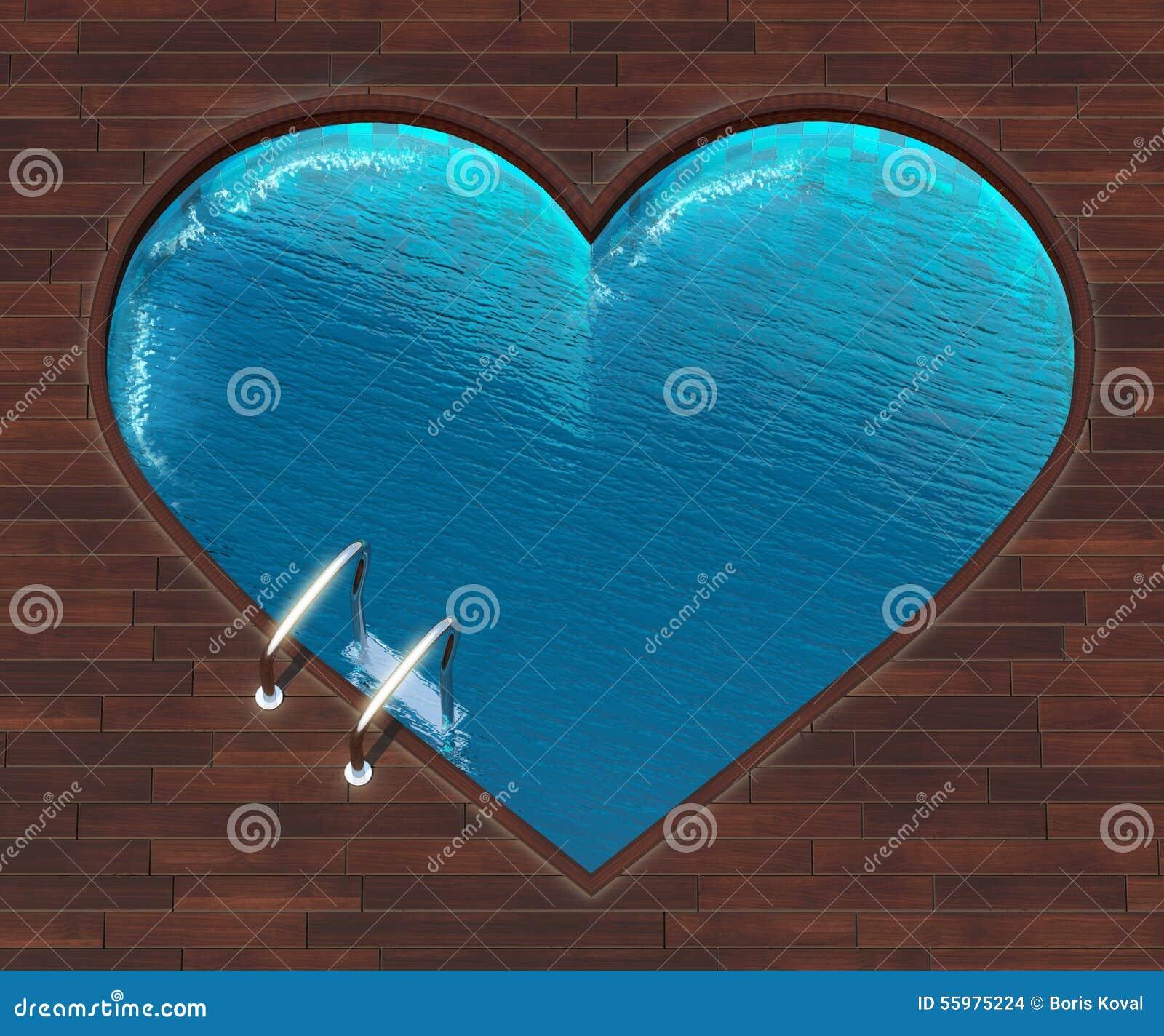Shaped Pool Heart