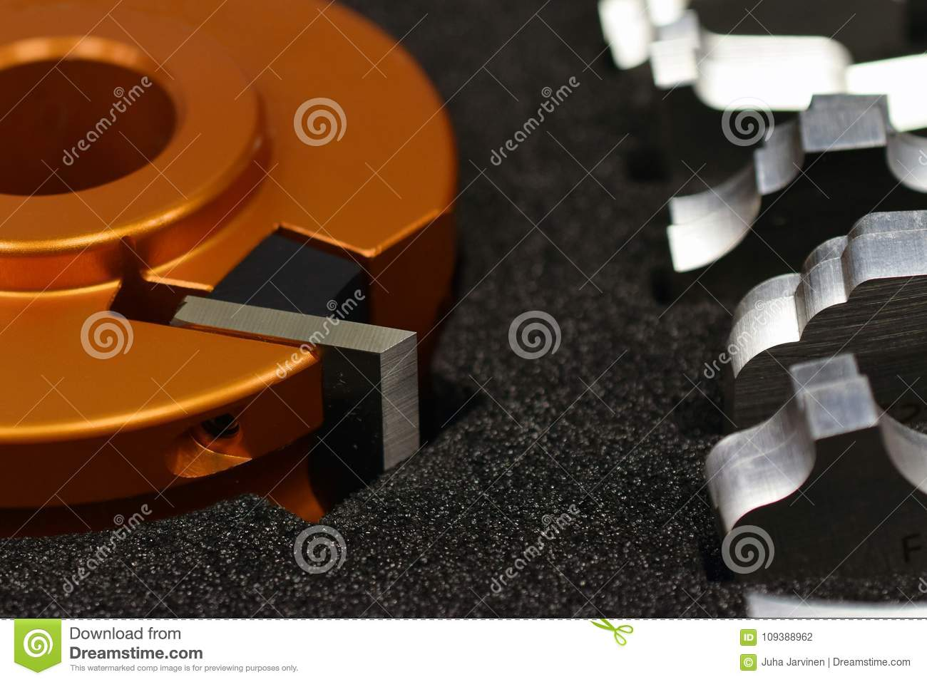 Shaper Cutter Head And Knives Stock Photo - Image of image, blade