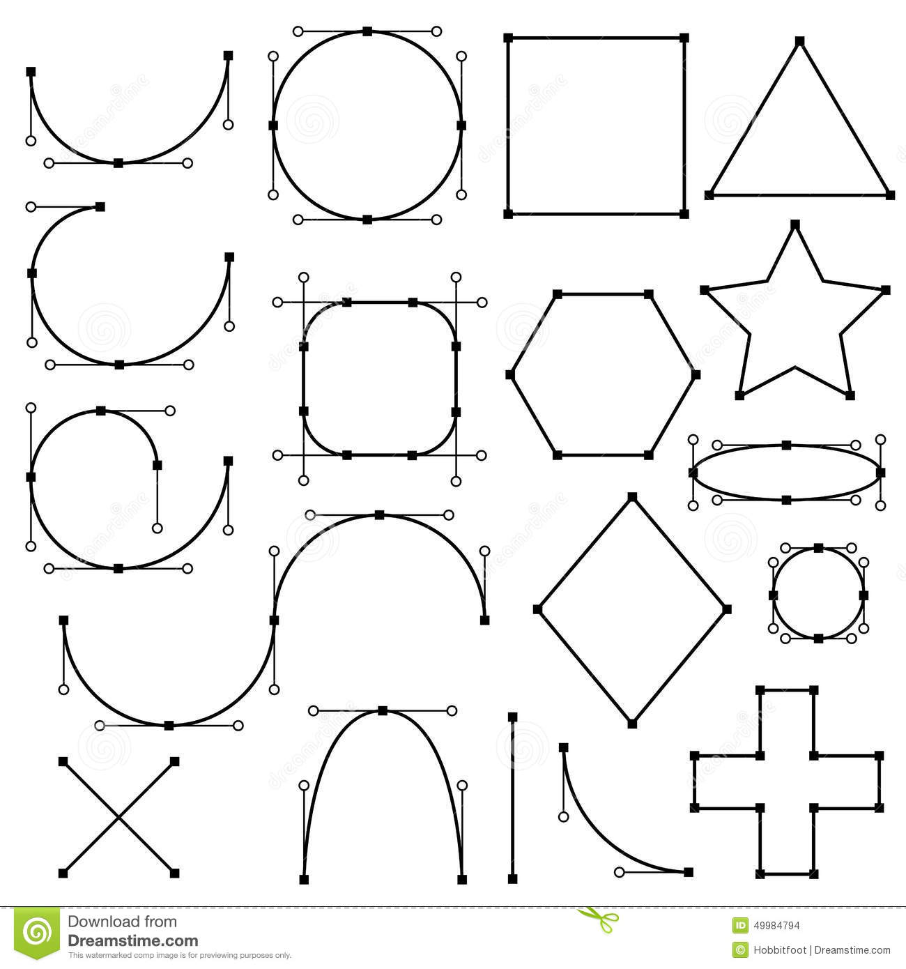 Line Shape Form : Shapes form of lines stock vector image