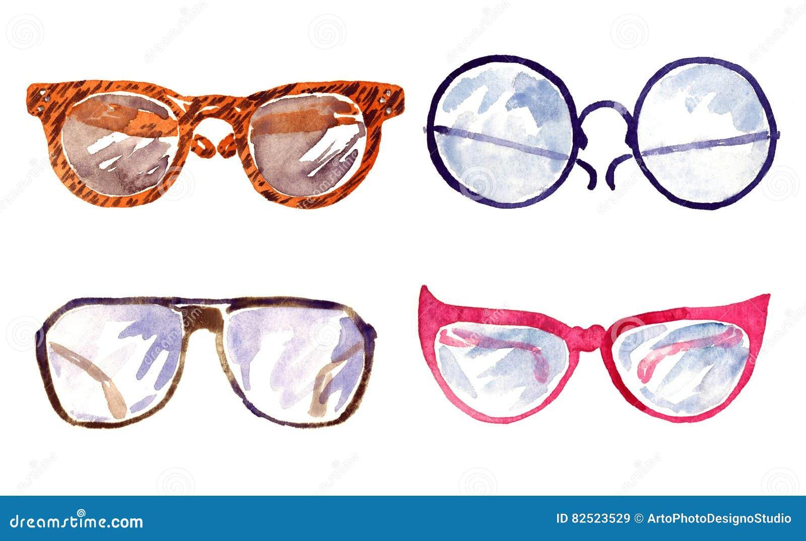 c8971d7ebf3 Shapes Of Male And Female Glasses Stock Illustration - Illustration ...