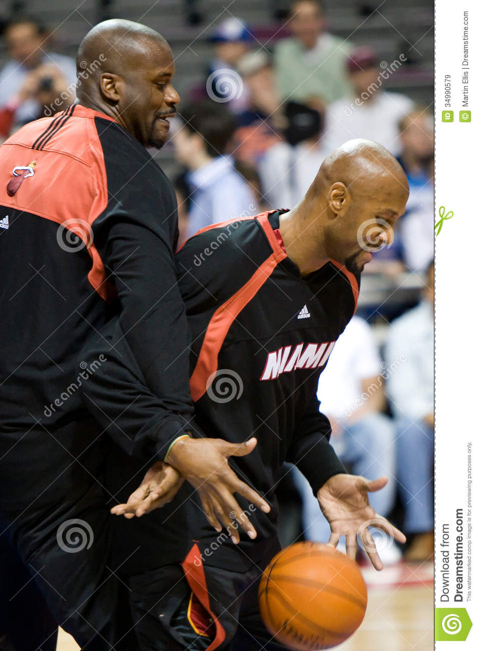 Shaquille O Neal And Alonzo Mourning Editorial Stock Image Image