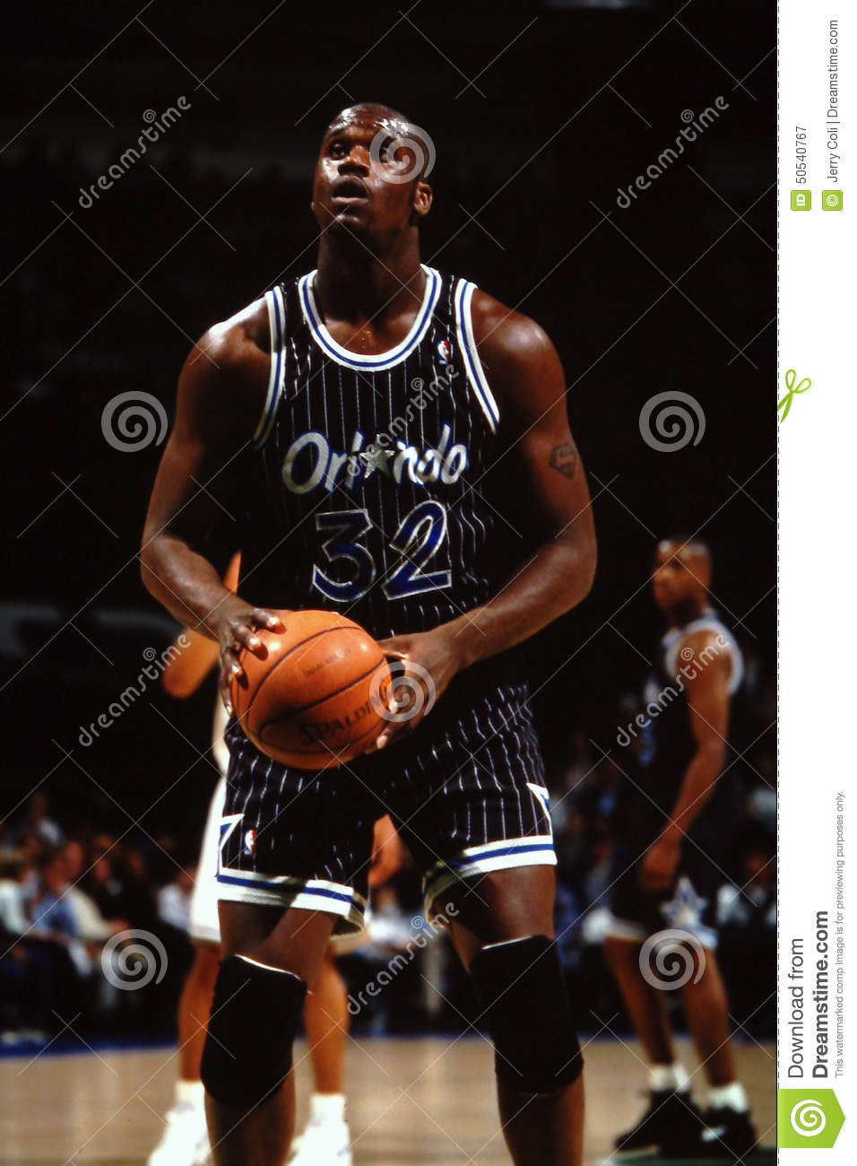 size 40 f046f 955c4 Orlando Magic star center Shaquille O Neal  32. (Image taken from color  slide.)