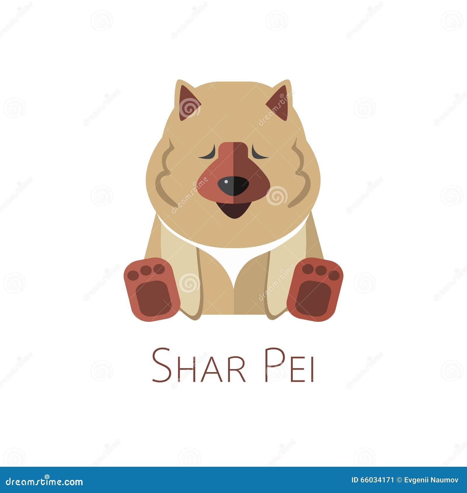 shar的pei 滑稽的漫画人物图片