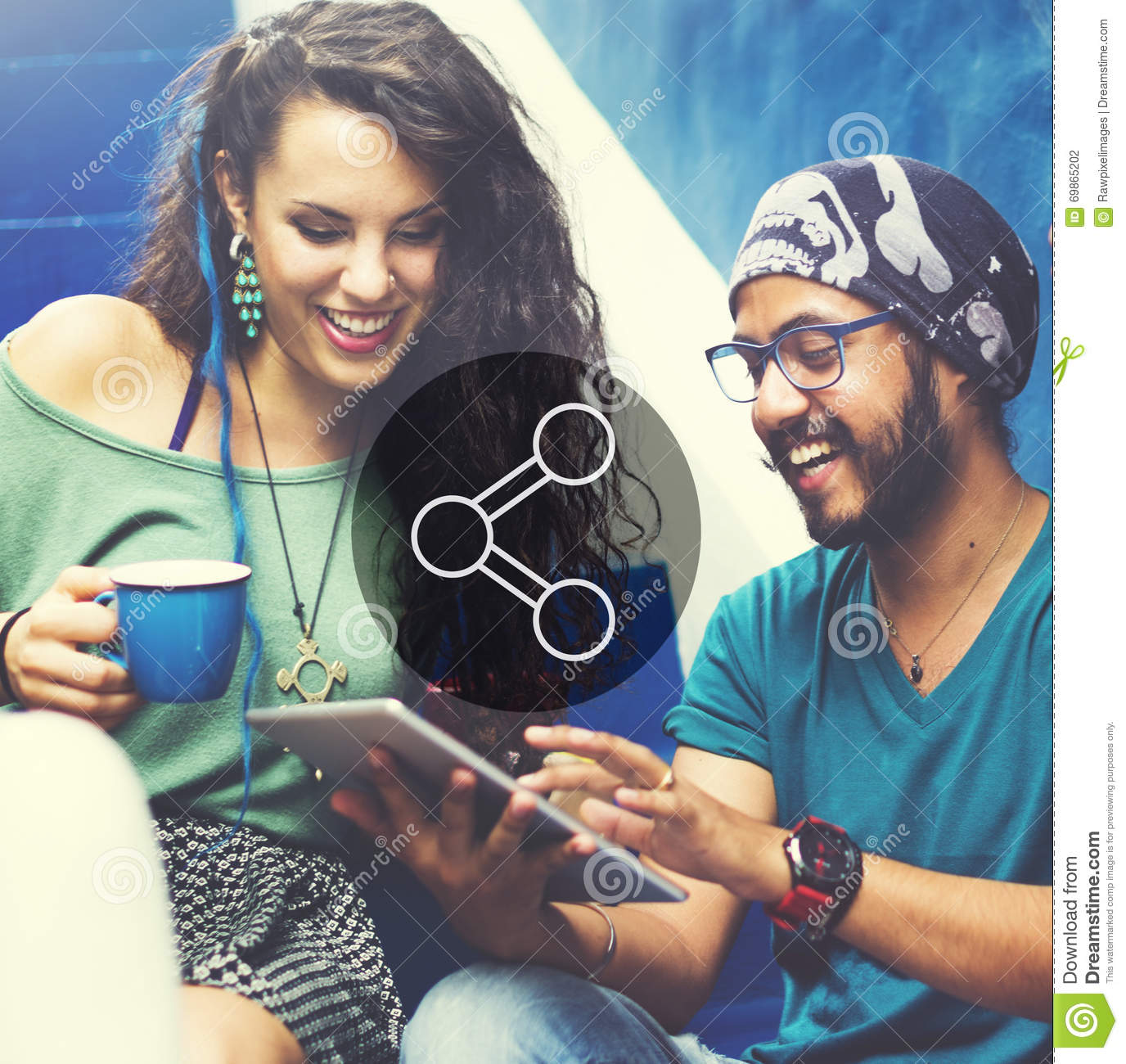 Share Connection Technology Sharing Global Communications Concep