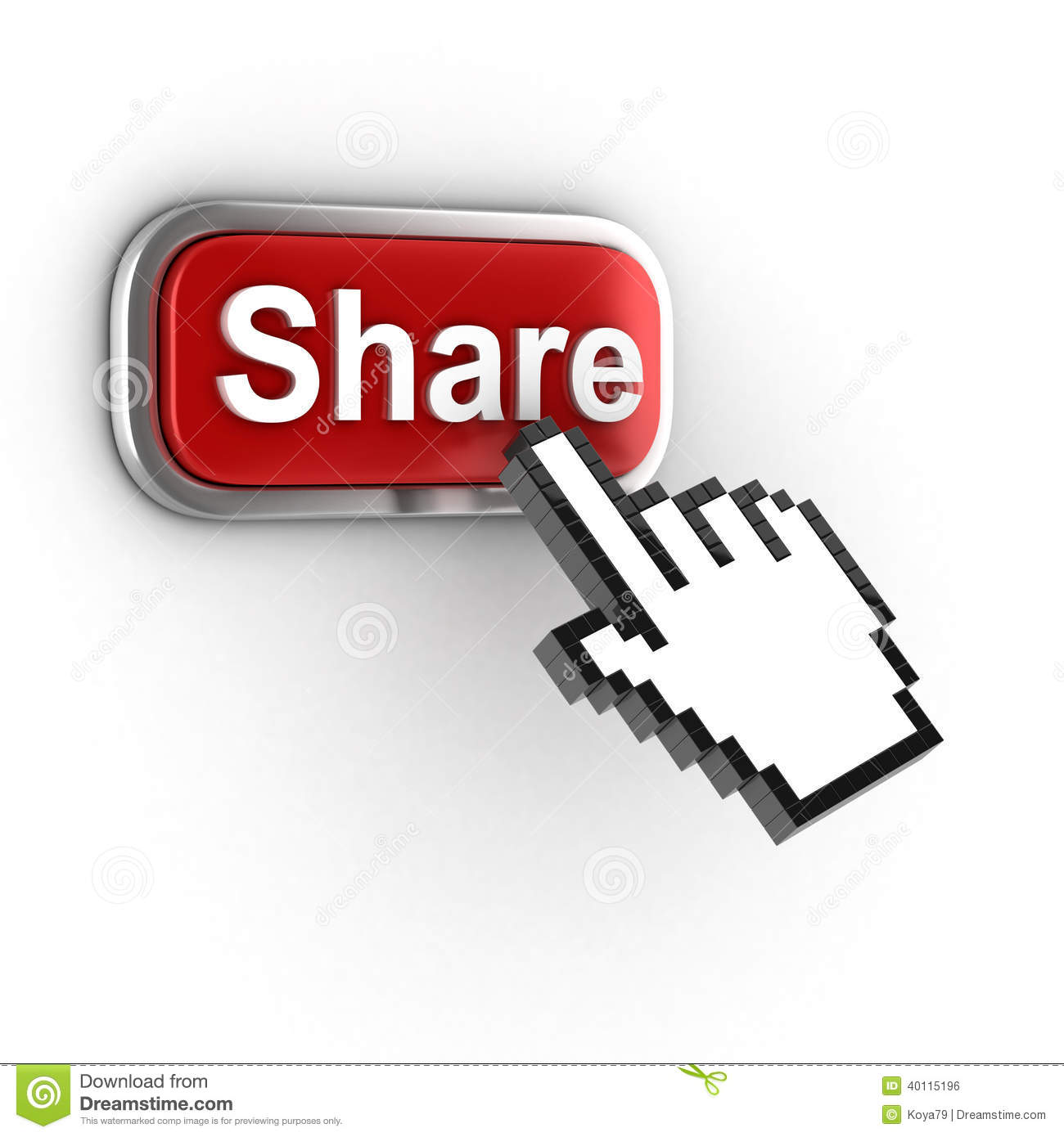 Share 3d Button Stock Illustration