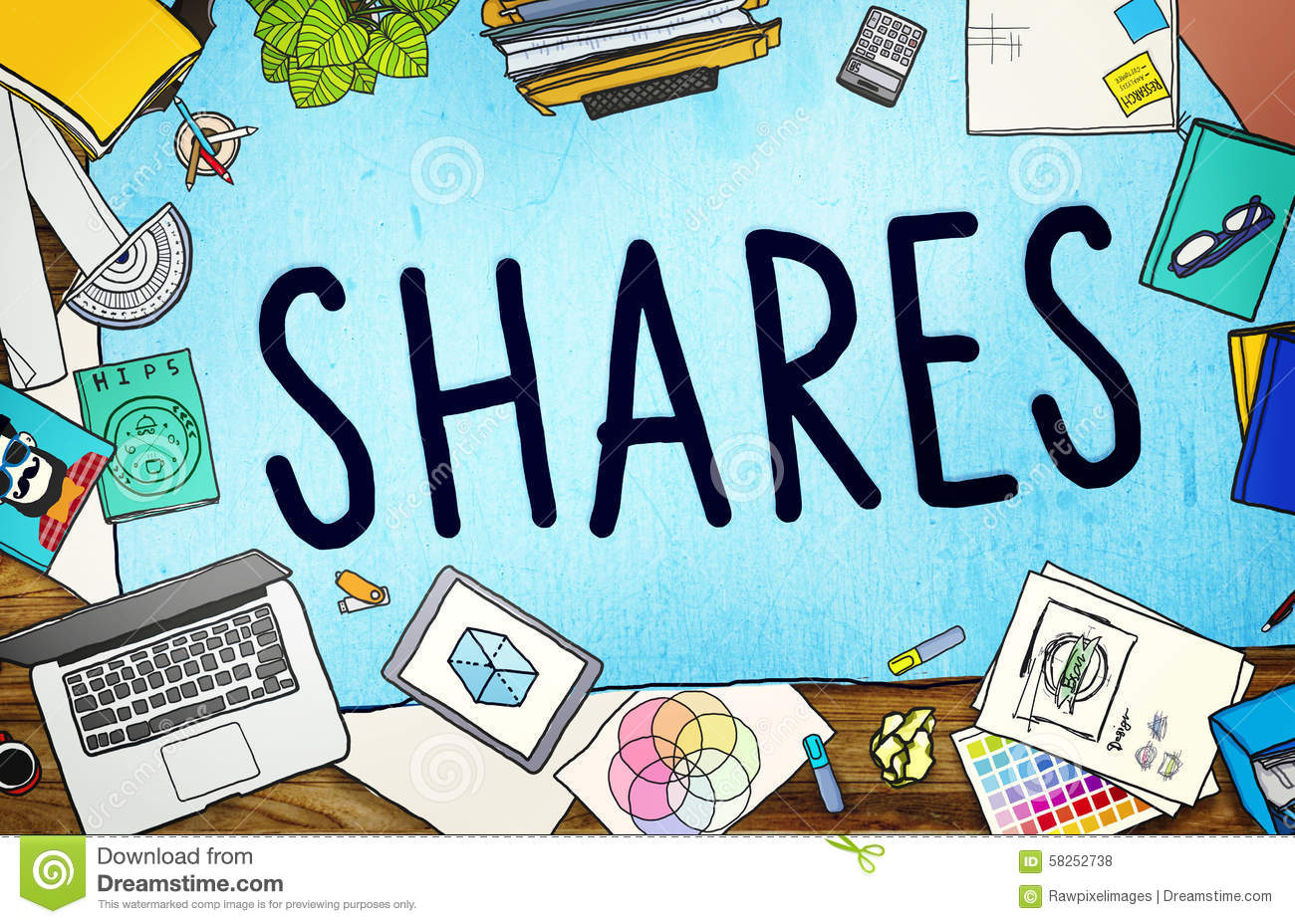 Shares Sharing Help Give Dividend Concept Stock