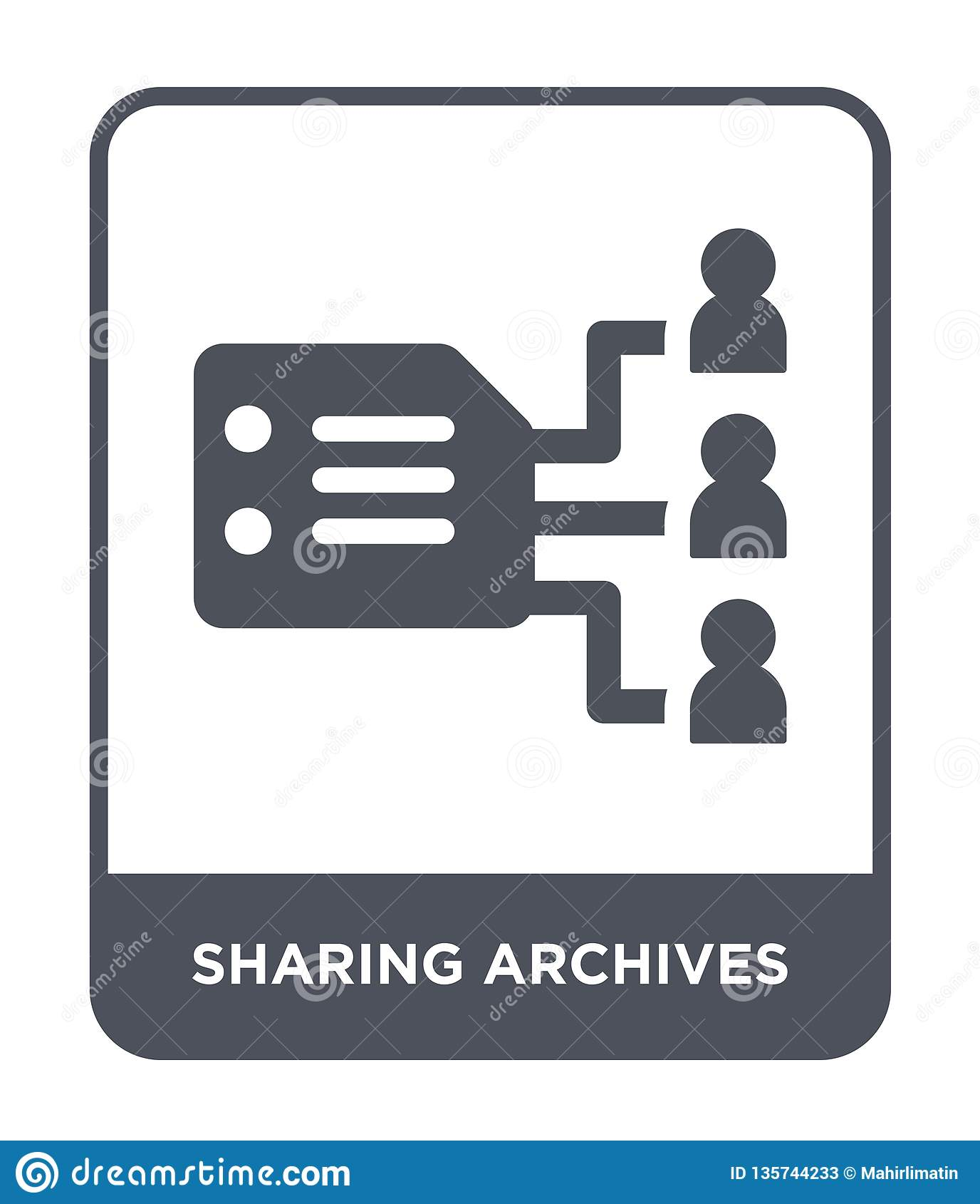 sharing archives icon in trendy design style. sharing archives icon isolated on white background. sharing archives vector icon