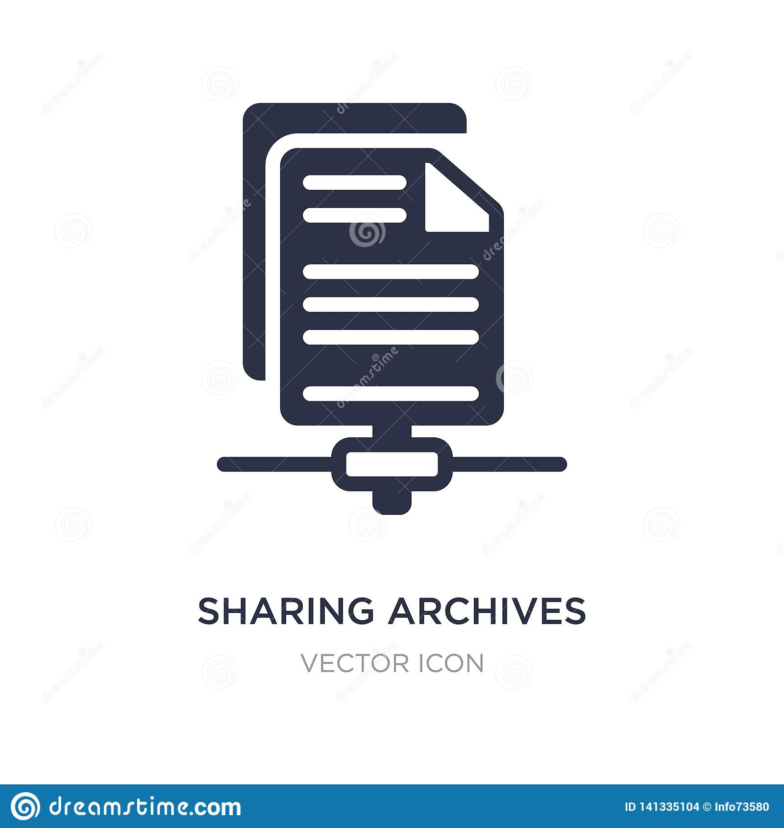sharing archives icon on white background. Simple element illustration from Search engine optimization concept