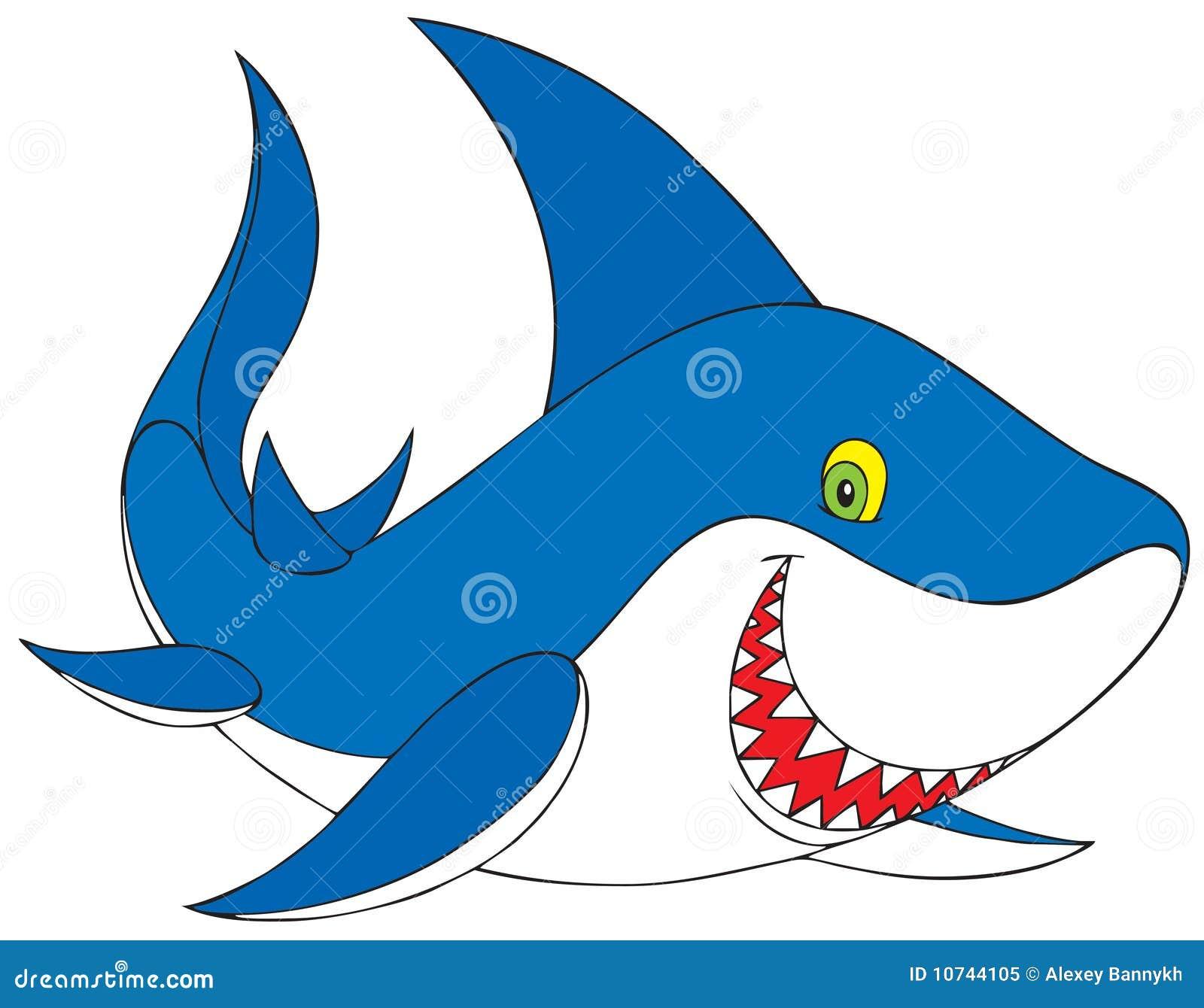 Smiling Shark Clipart