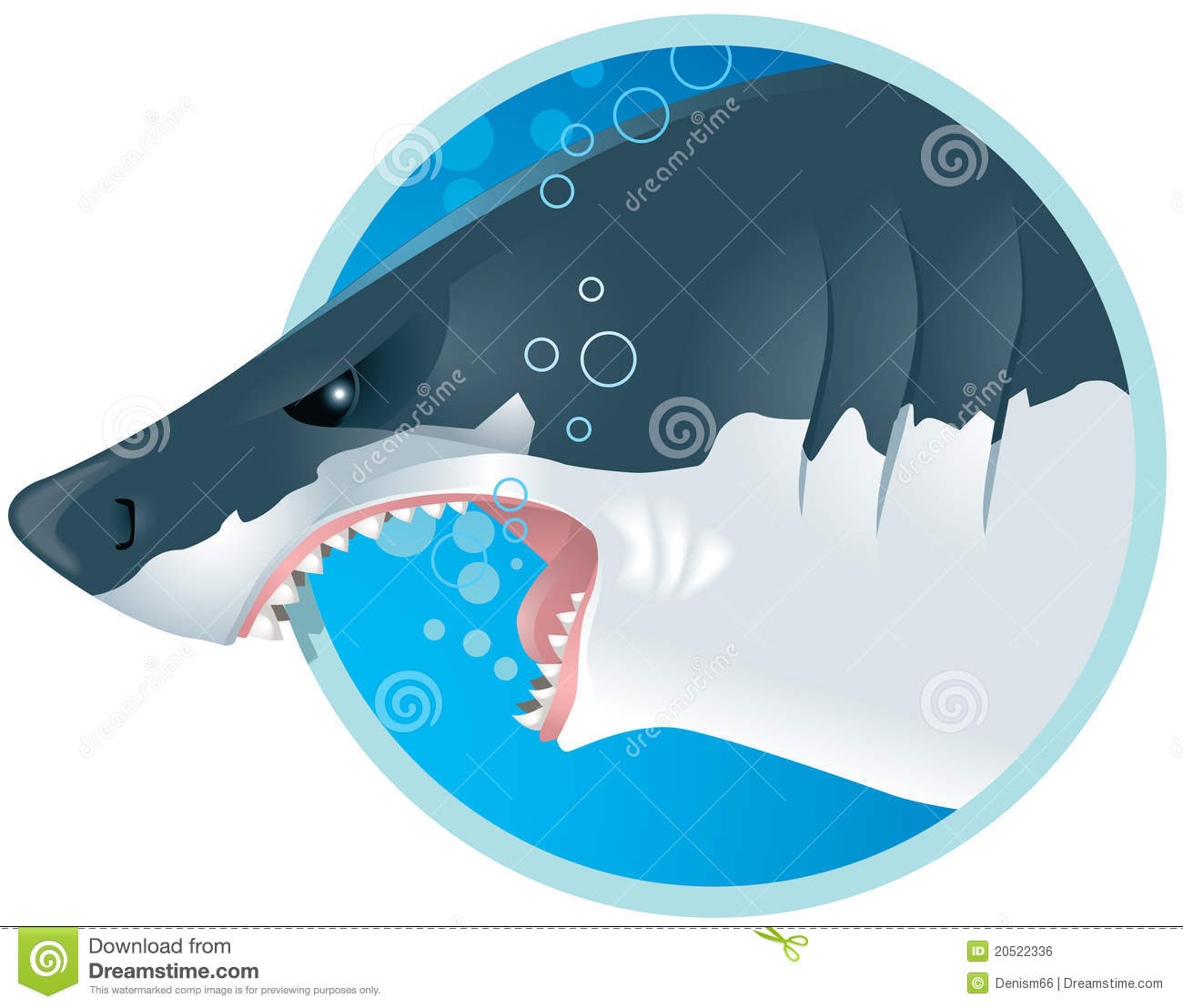 Shark Growl: Shark Stock Vector. Illustration Of Beast, Felidae, Threat