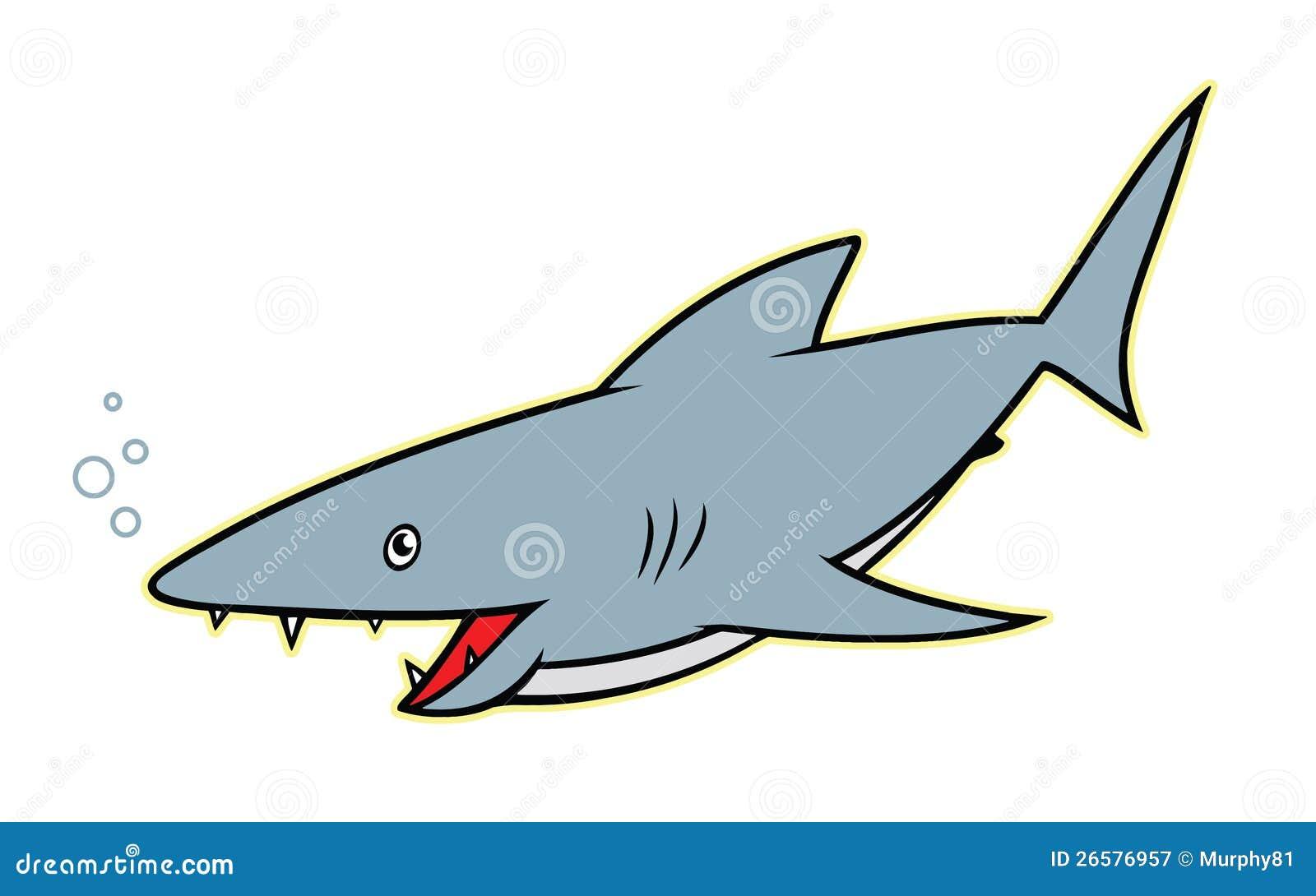 Shark Cartoon Character Royalty Free Stock Photography