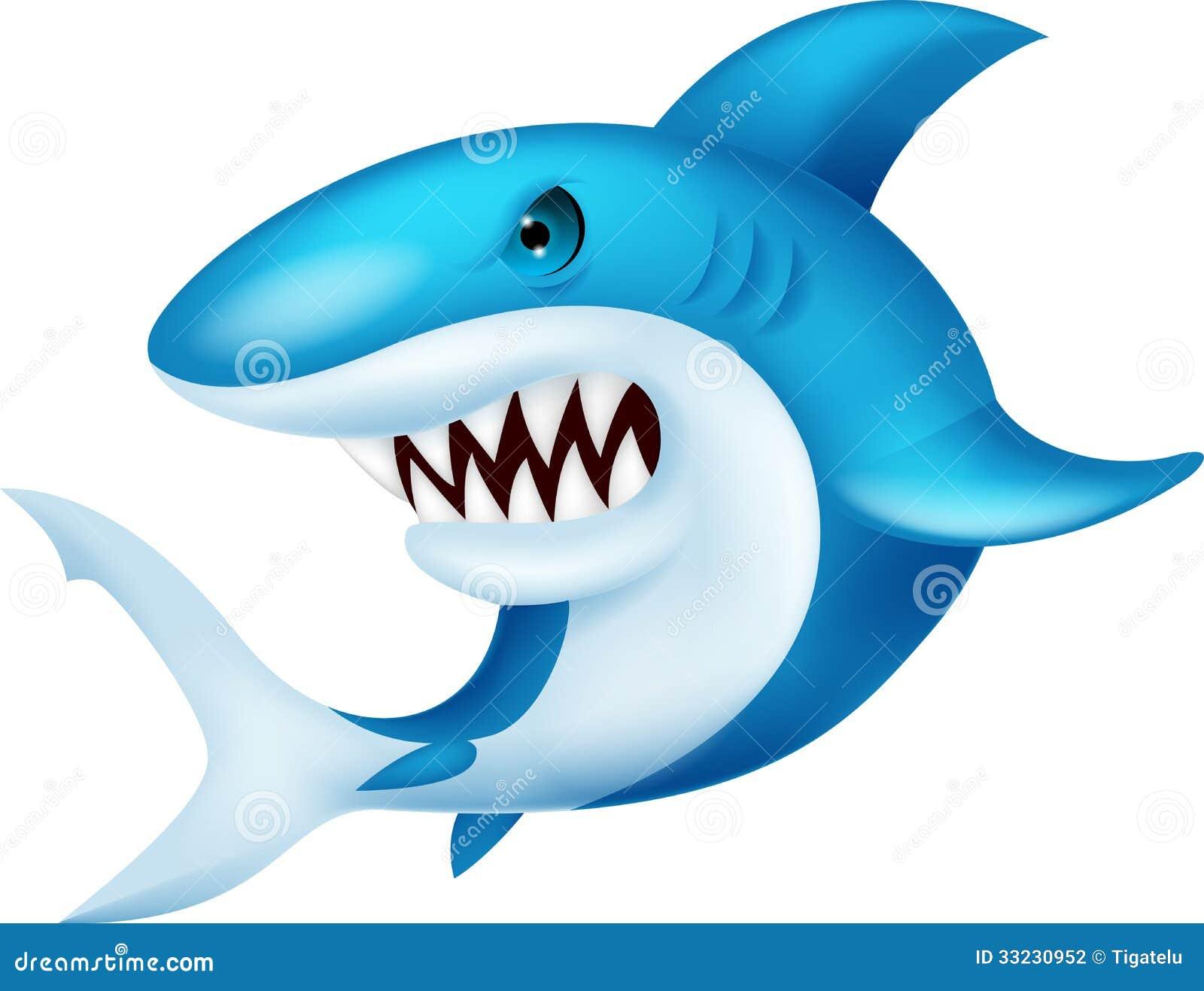 Download Shark cartoon stock vector. Illustration of cartoon, comics - 33230952
