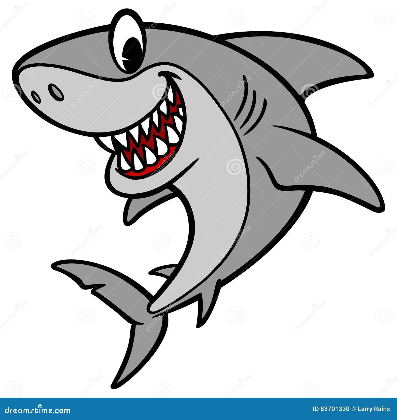 Shark Cartoon Illustration Stock Vector