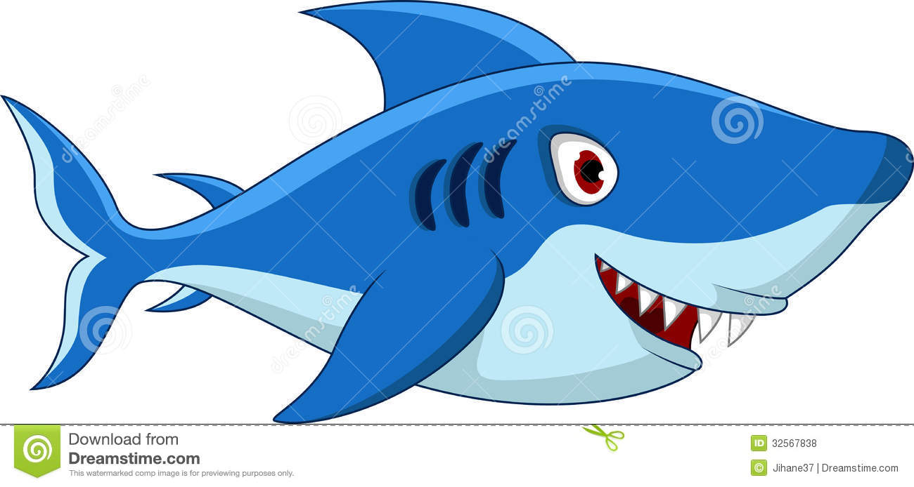 Shark Cartoon For You Design Stock Illustration Illustration Of Blue Character 32567838