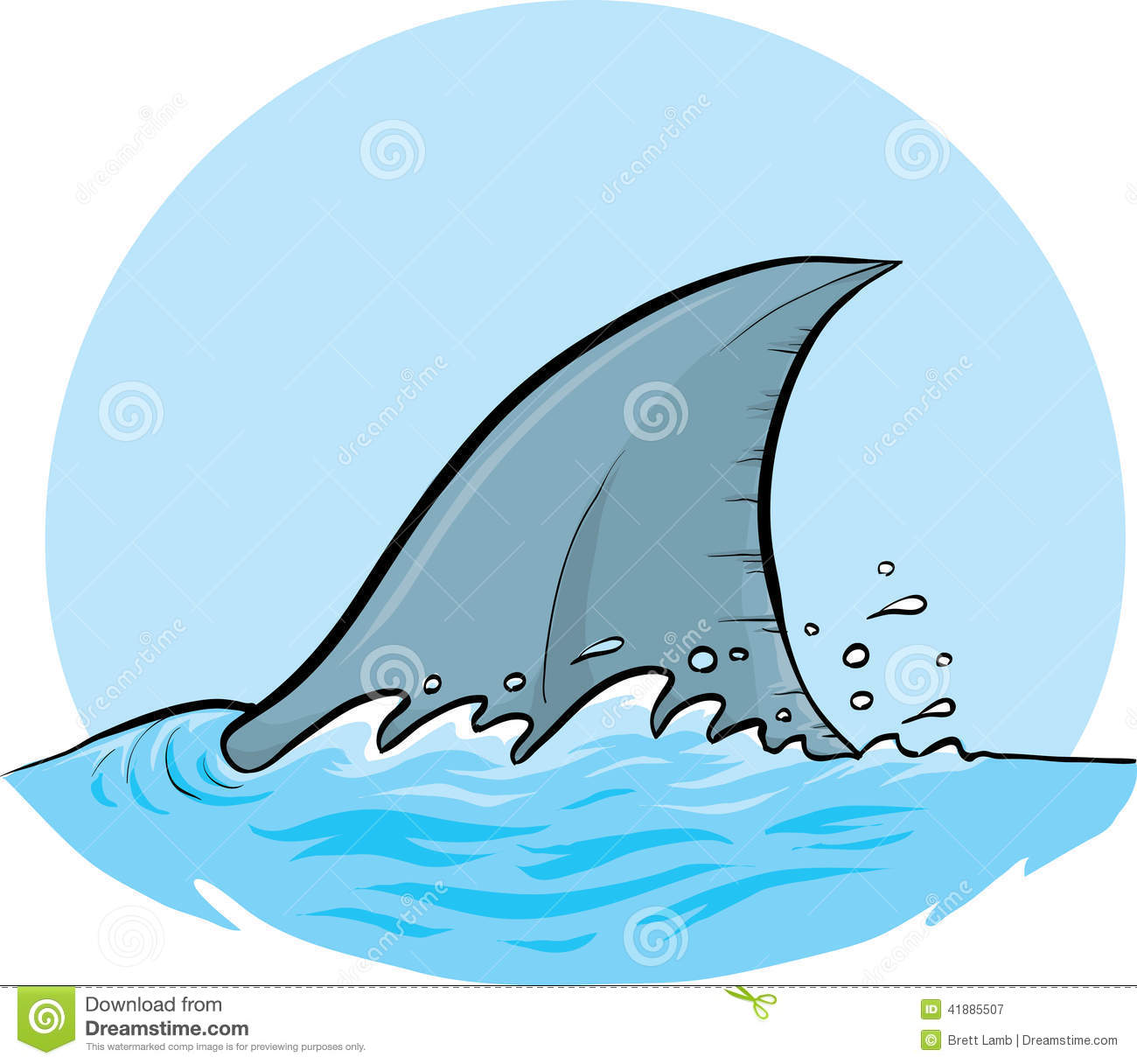 Shark Dorsal Fin Stock Illustration - Image: 41885507