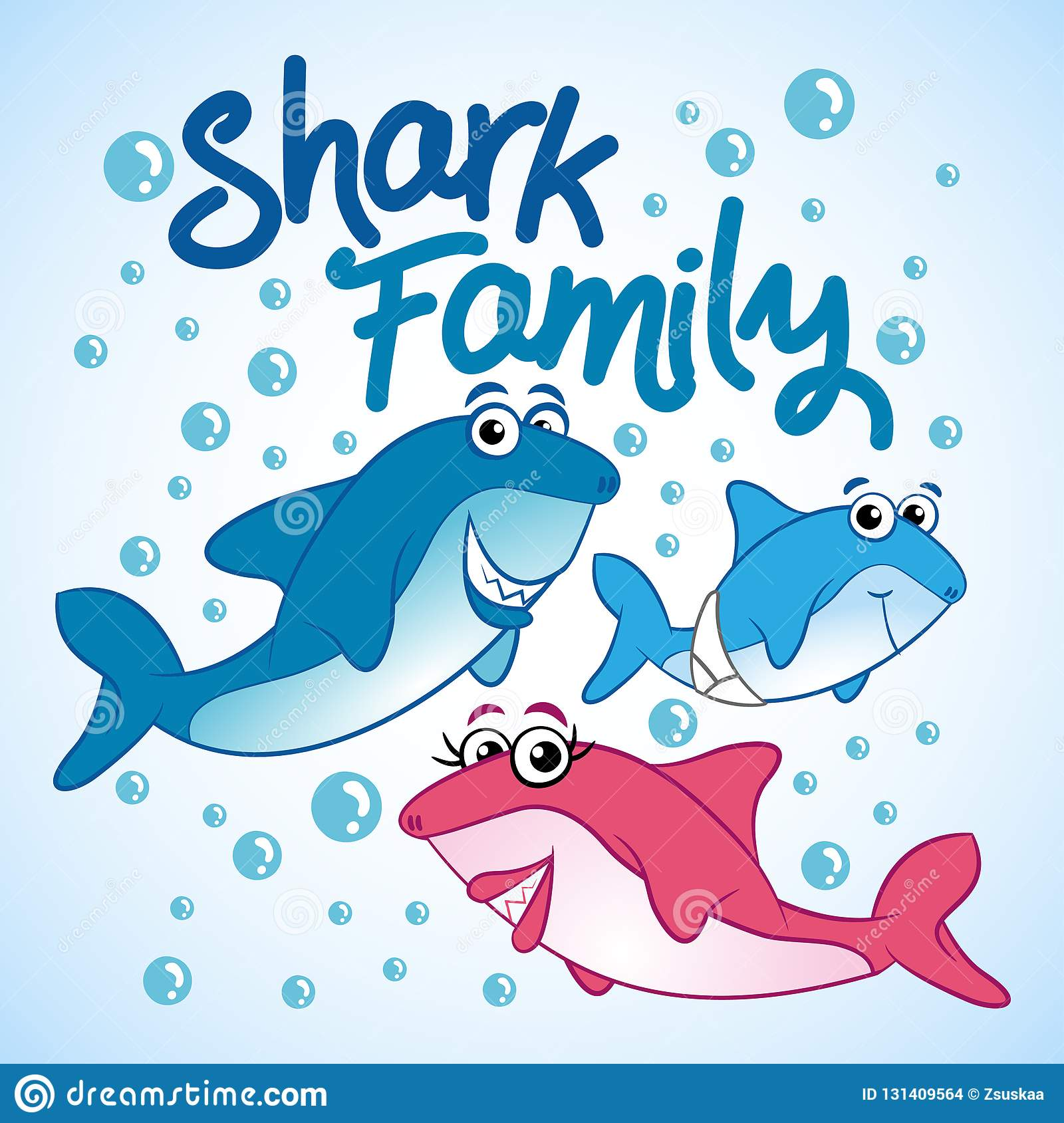 Shark Family T Shirts Hoodie Tank Gifts Stock Vector